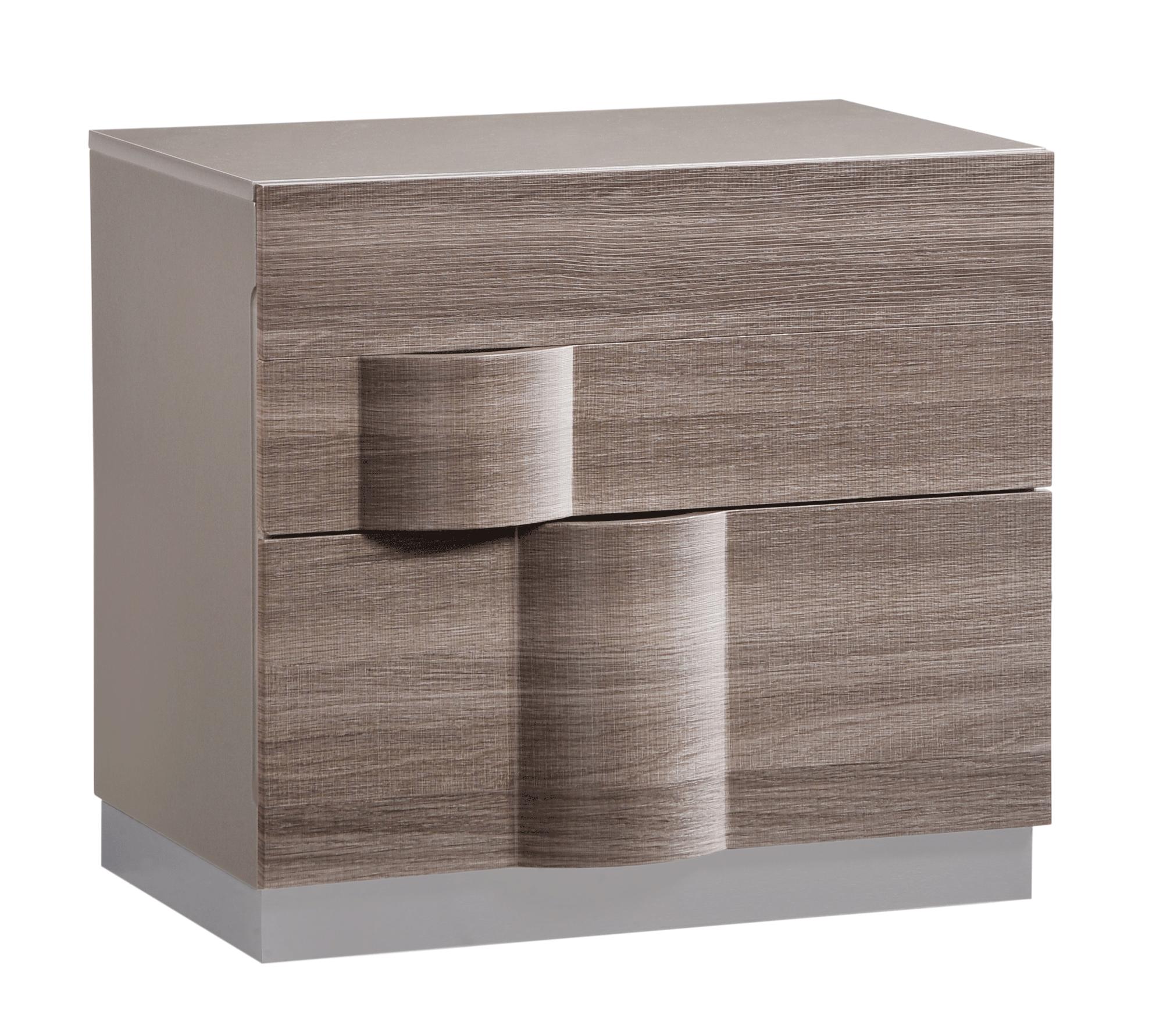 Adel Grey Glossy & Zebra Wood Bedroom Set by Global Furniture