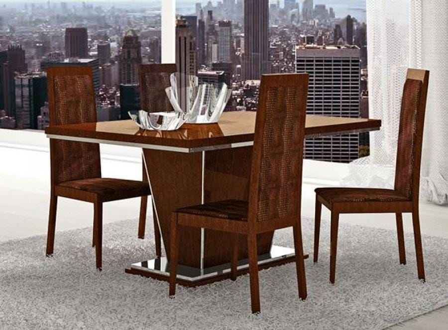 Caprice Walnut Dining Table with Extension by At Home USA