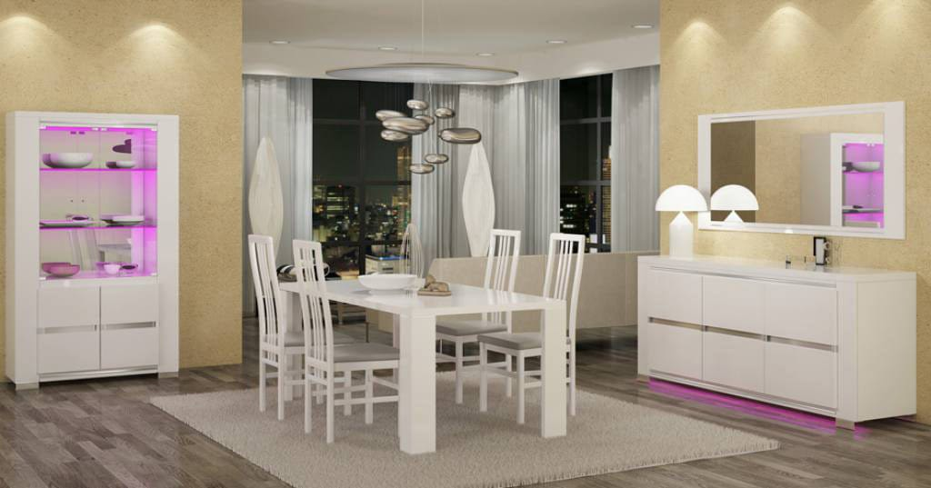 Diamond White Usa >> Elegance Diamond White Dining Table By At Home Usa
