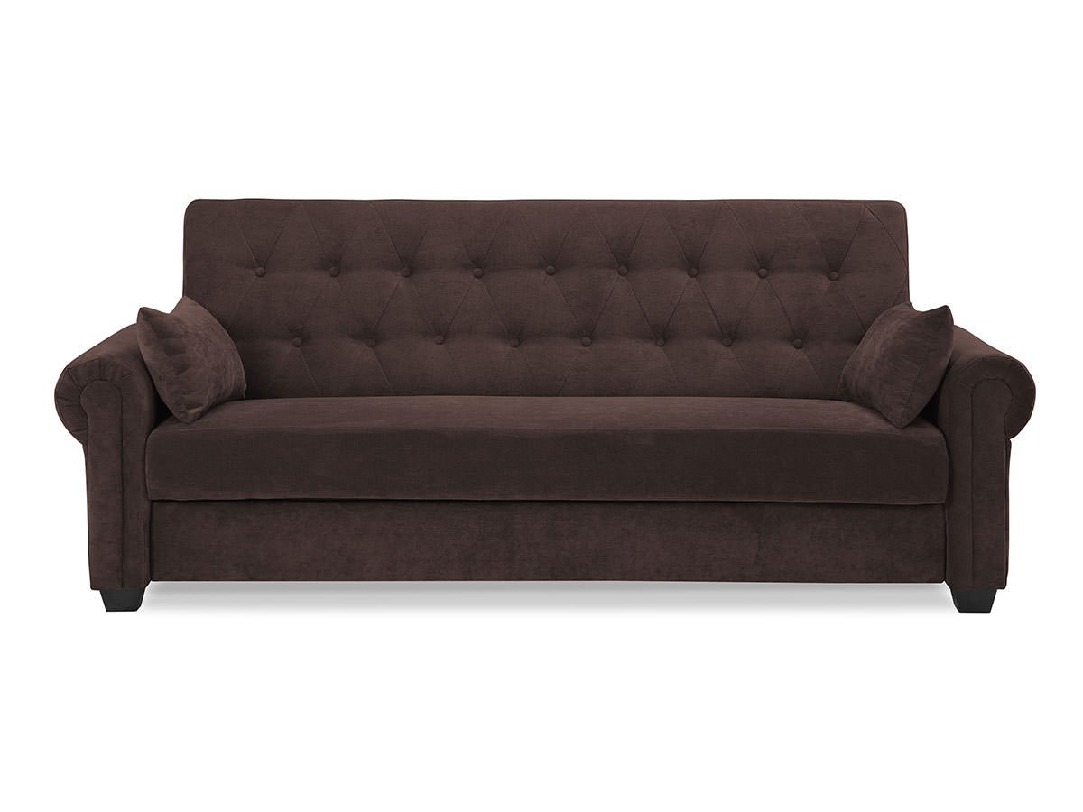 andrea convertible sofa java by serta lifestyle