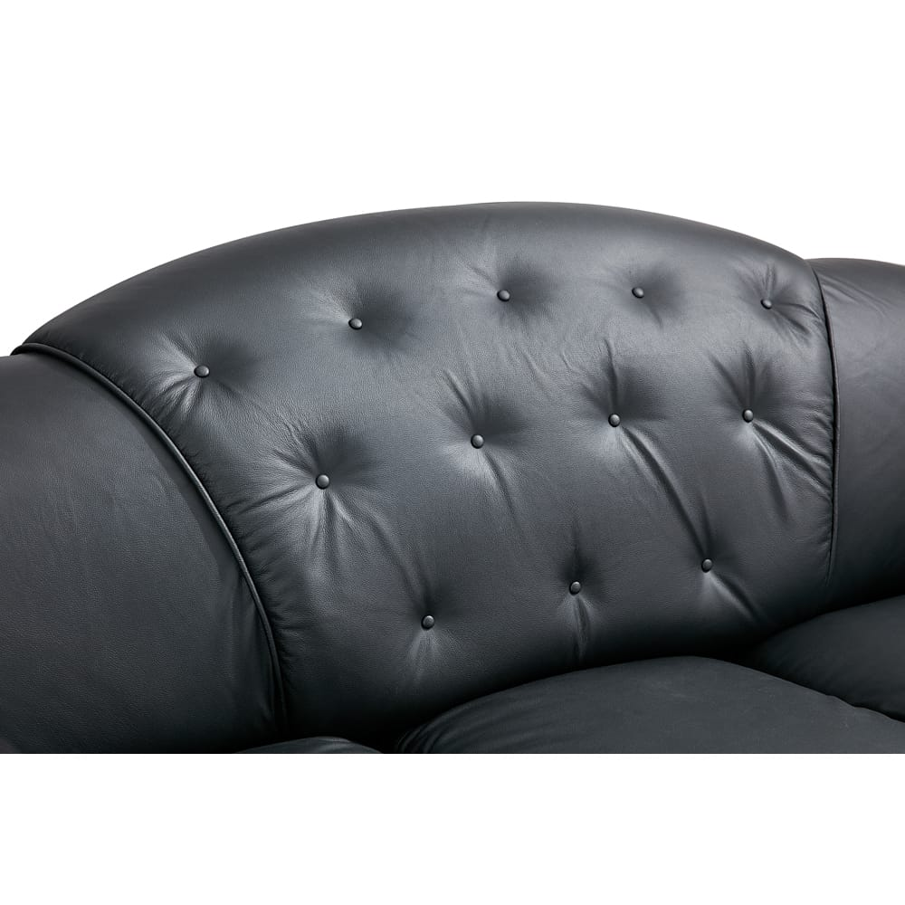 Apolo Black Leather Sofa by ESF
