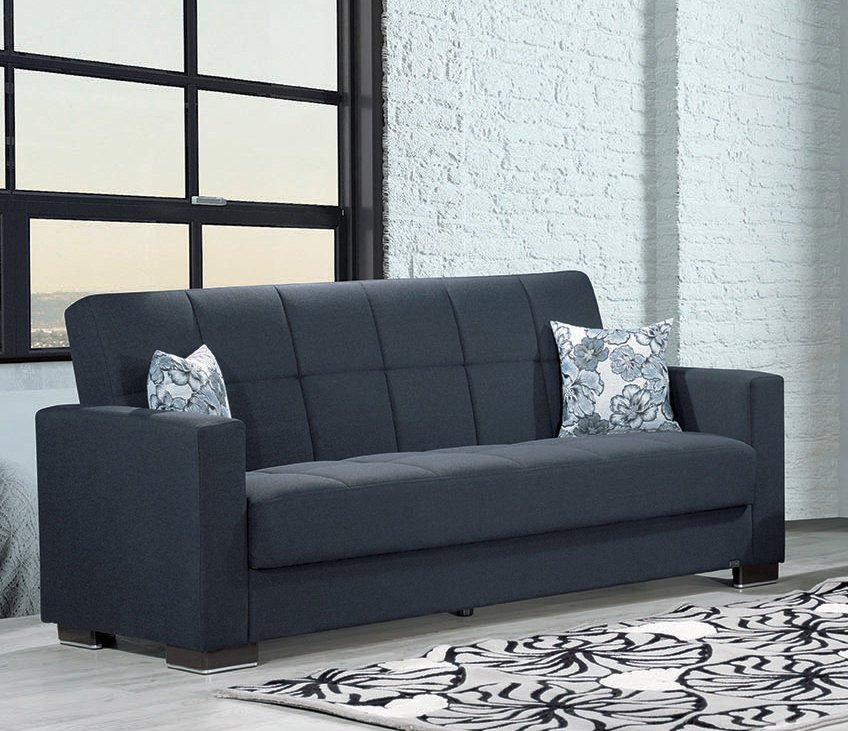 Armada Denim Dark Blue Sofa Bed by Casamode