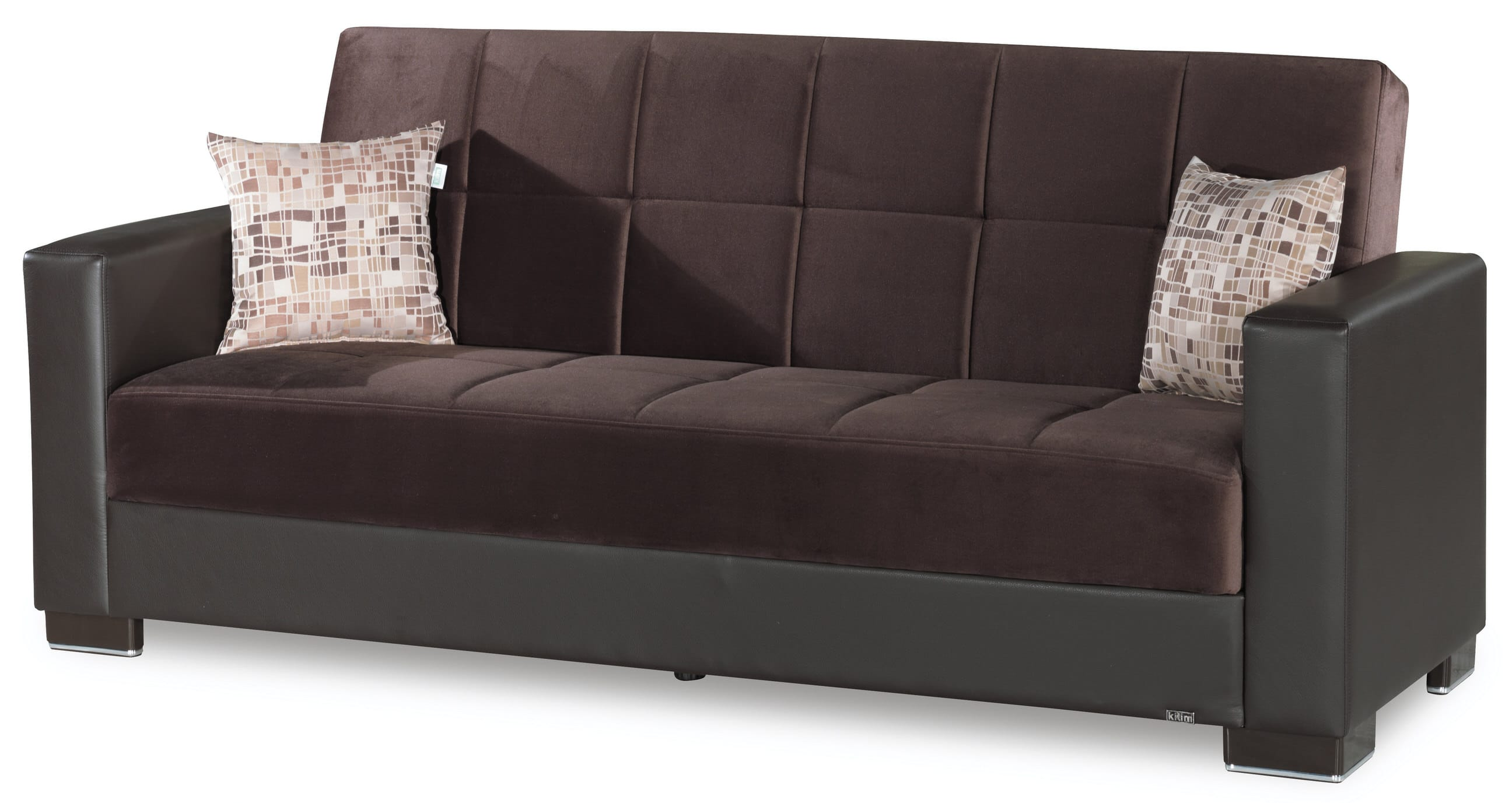 Phenomenal Armada Dark Brown Sofa Bed By Casamode Creativecarmelina Interior Chair Design Creativecarmelinacom