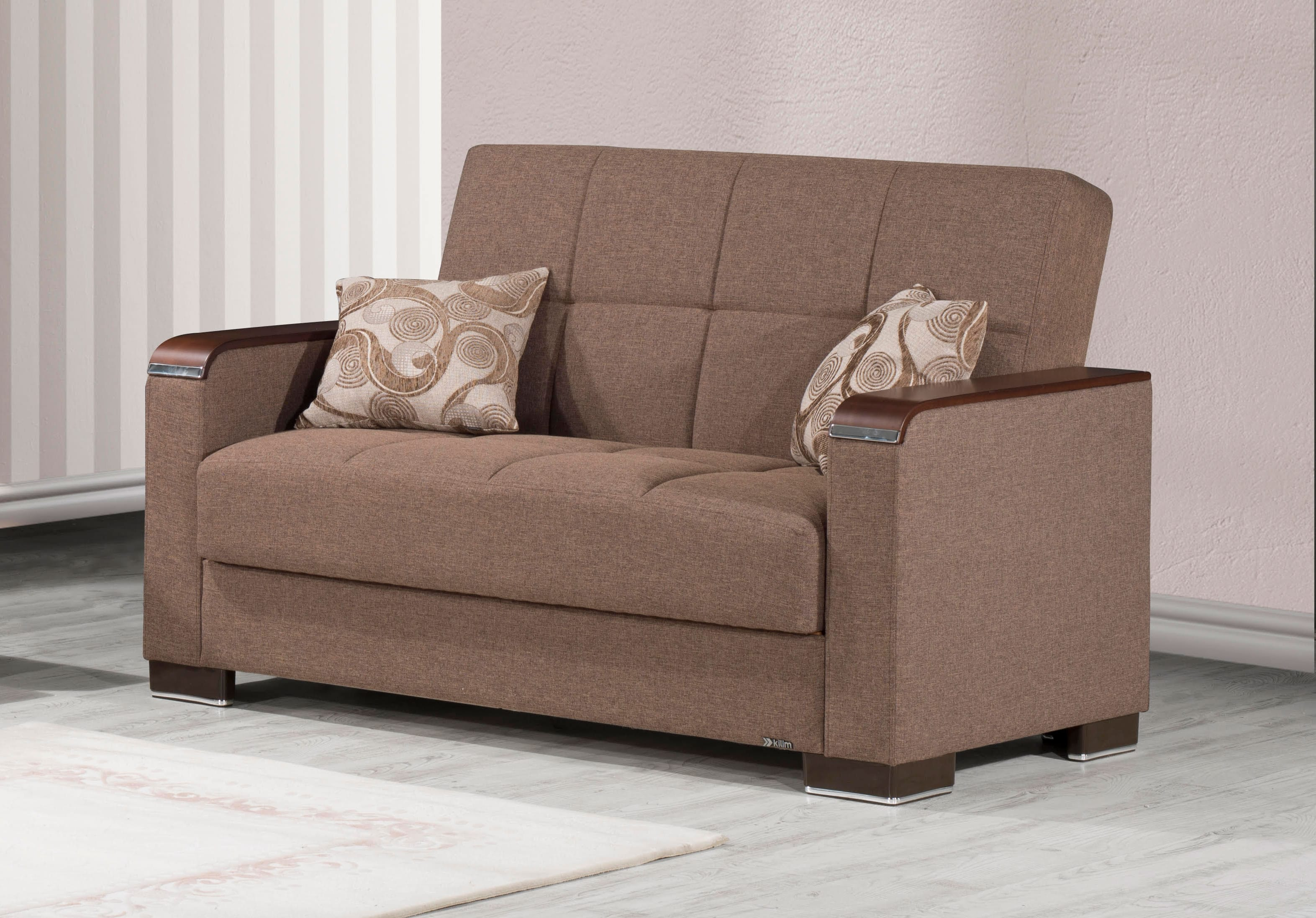 Armada X Light Brown Convertible Loveseat by Casamode
