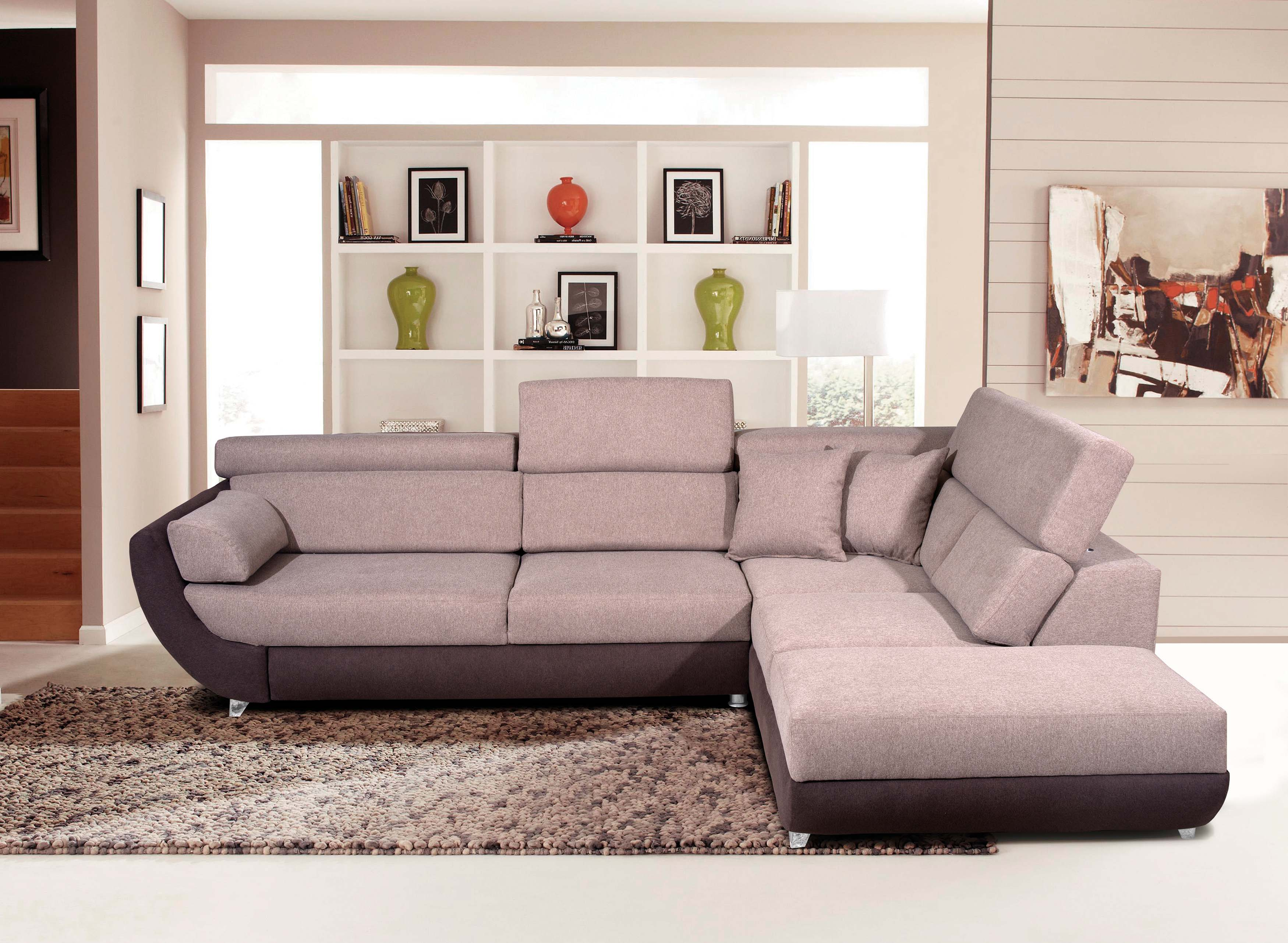 Super Artemis Fabric Sectional W Bed By Esf Machost Co Dining Chair Design Ideas Machostcouk