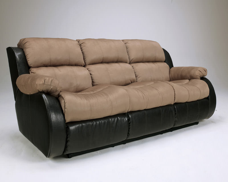 presley cocao reclining sofa signature design by ashley