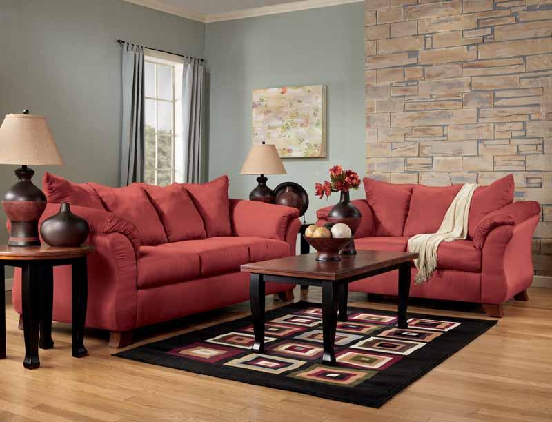 Durapella Red Sofa Set by Signature Design