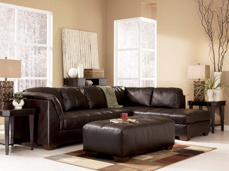 Chocolate Sectional Sofa Set Signature Design by Ashley Furniture 800 x 600