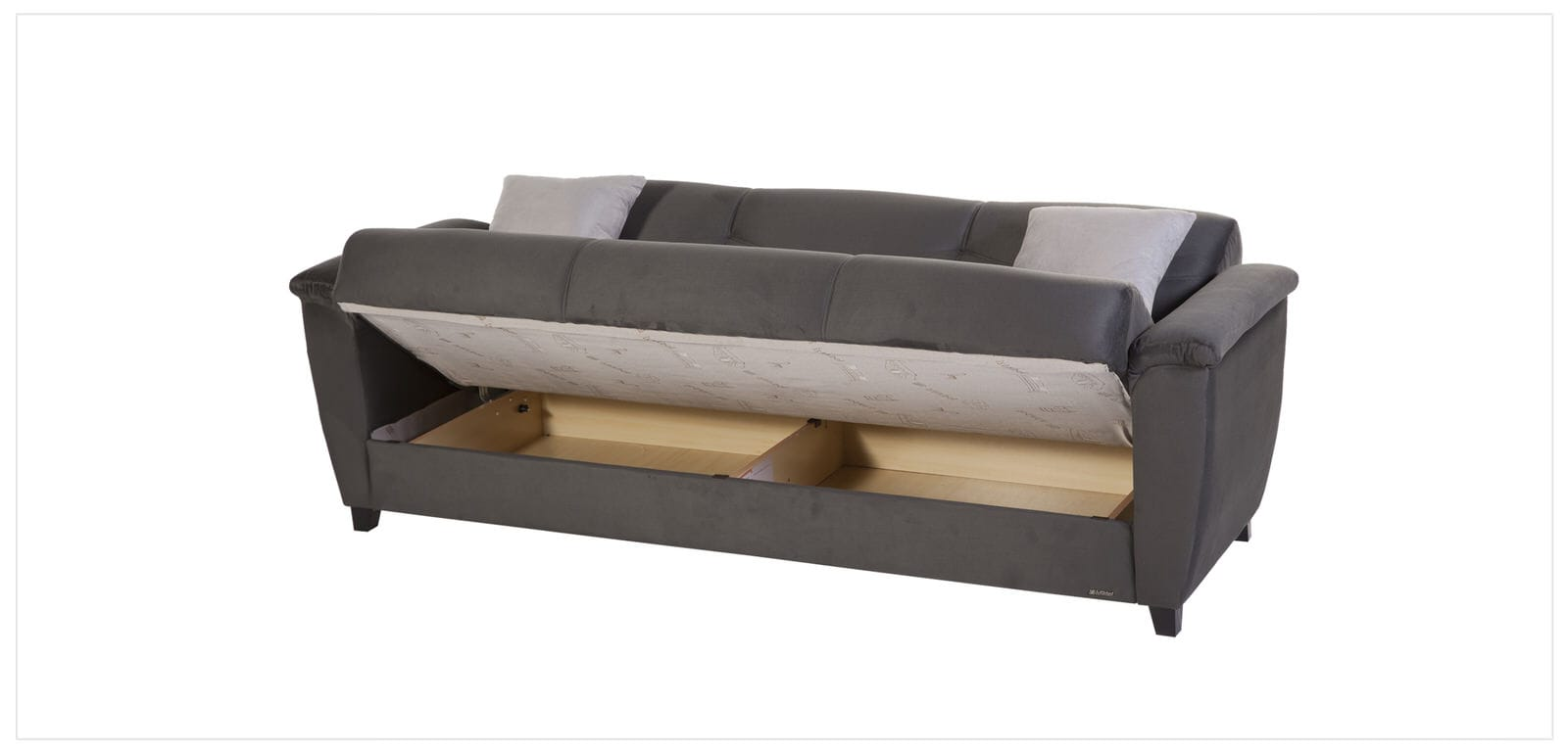 Aspen rainbow dark grey convertible sofa bed by sunset for Sofa bed 4 in 1