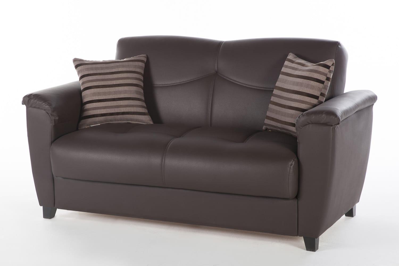 Swell Aspen Santa Glory Dark Brown Loveseat By Istikbal Furniture Short Links Chair Design For Home Short Linksinfo