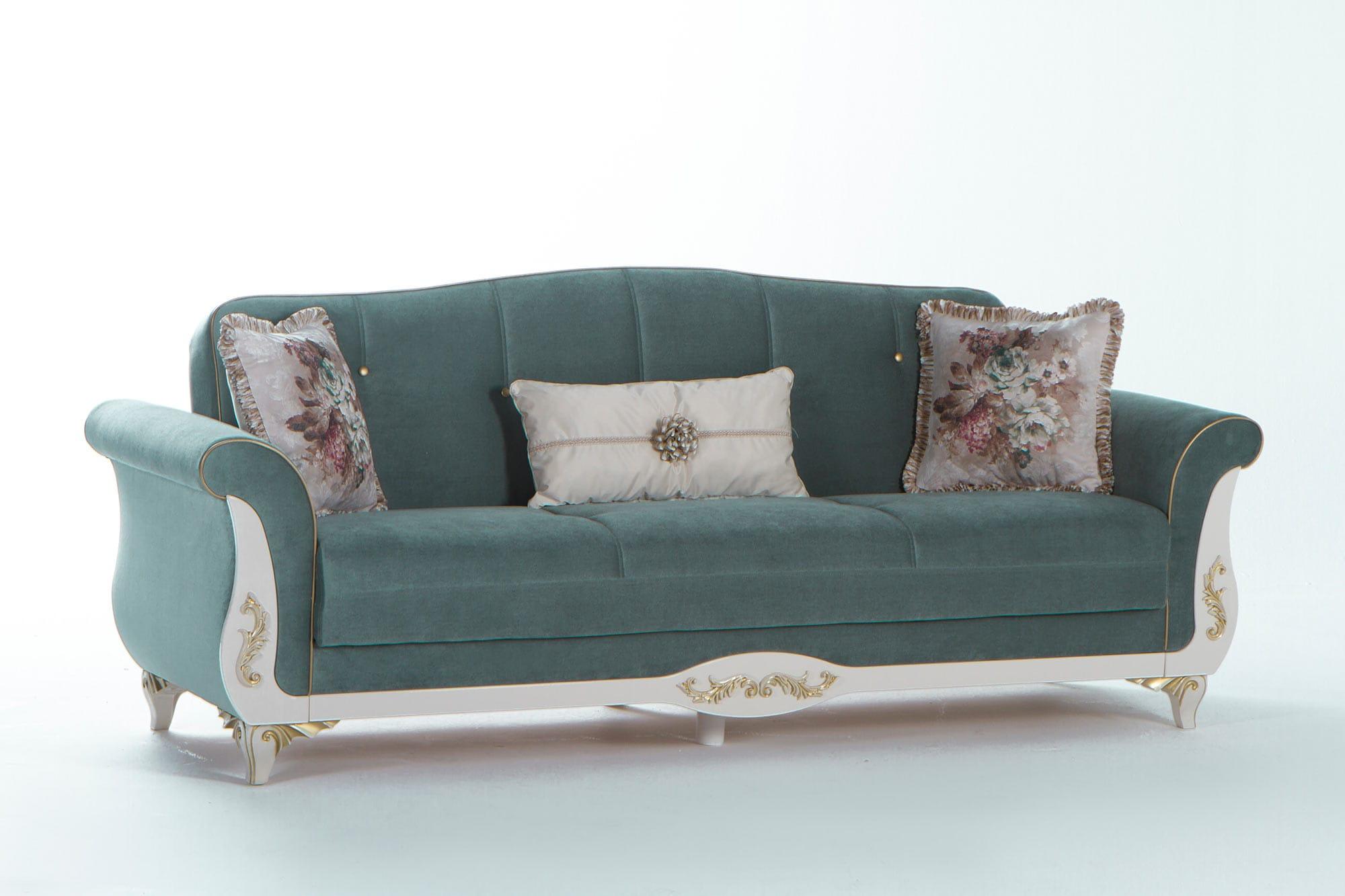 Astoria Caprice Seafoam Green Convertible Sofa Bed By