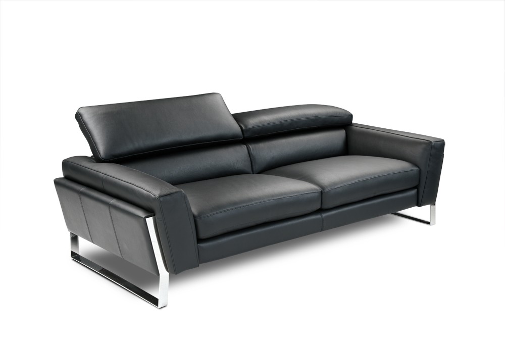Athens Italian Leather Sofa Black by J&M Furniture
