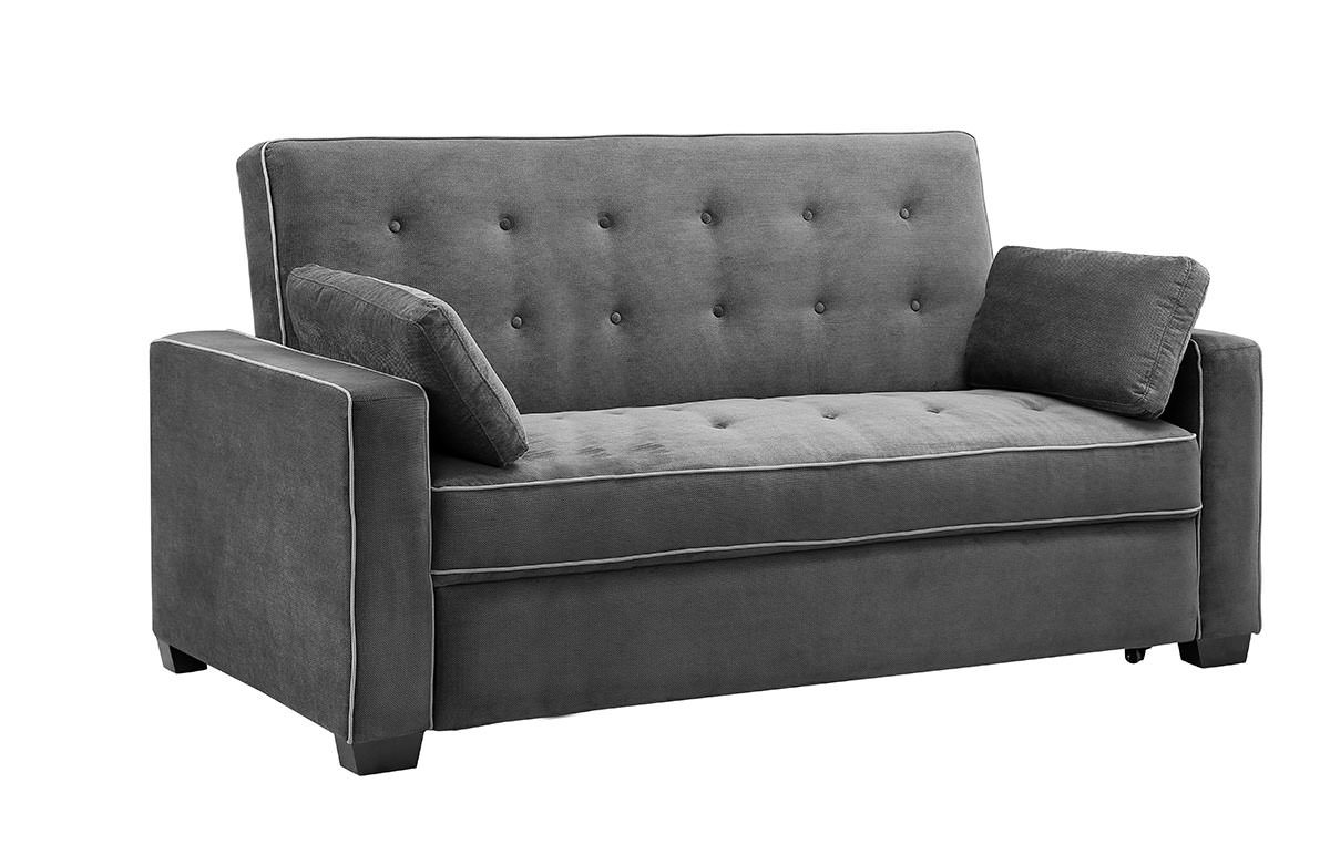 augustine loveseat queen size sleeper moon grey by serta lifestyle. Black Bedroom Furniture Sets. Home Design Ideas