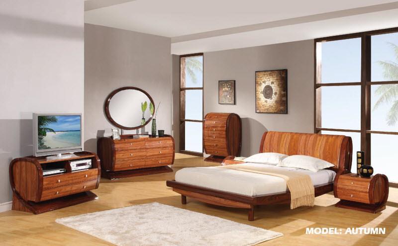 Autumn Kokuten Glossy Bedroom Set by Global Furniture