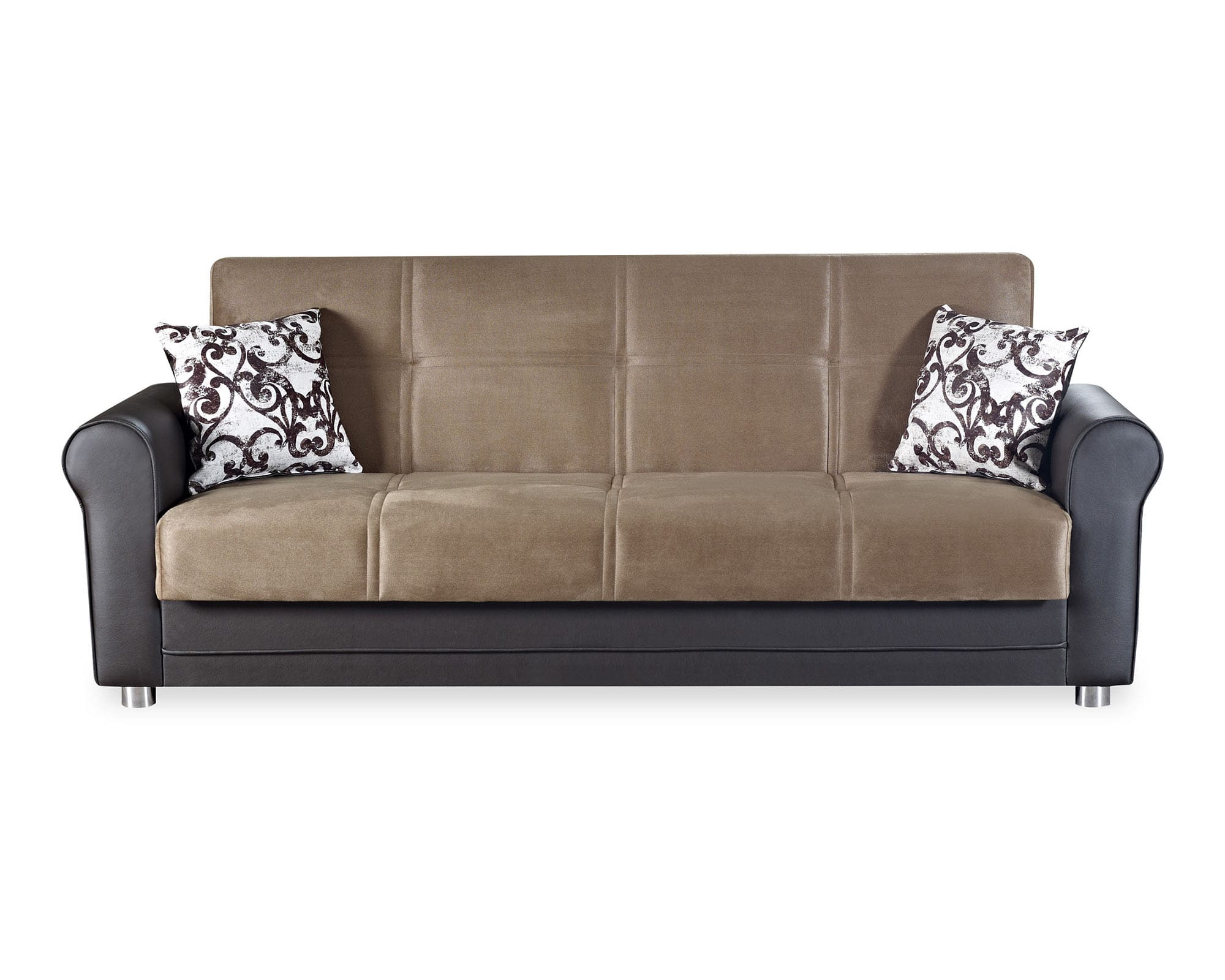 Avalon Plus Prusa Brown Convertible Sofa by Casamode