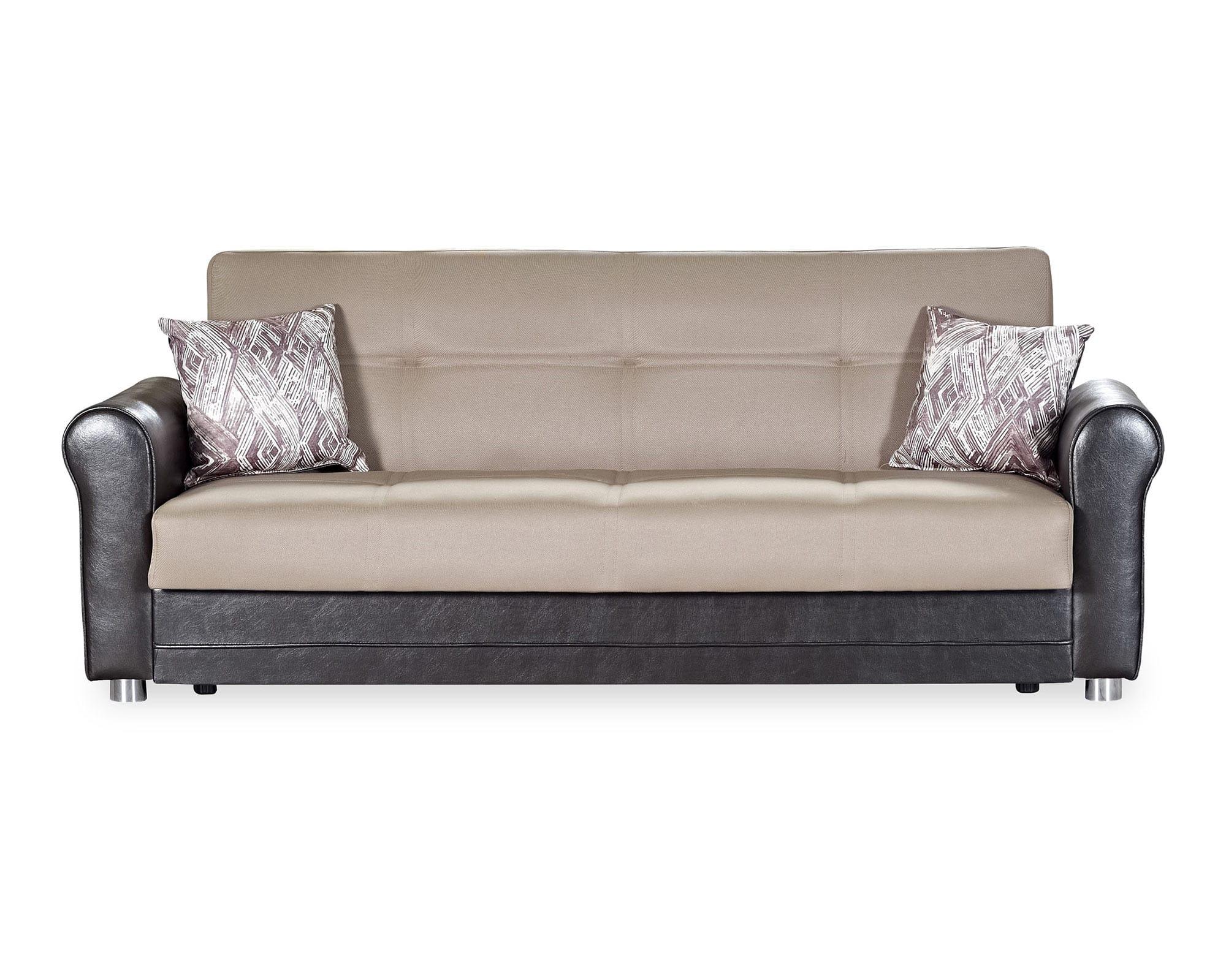 Avalon Plus Dark Beige Convertible Sofa By Casamode