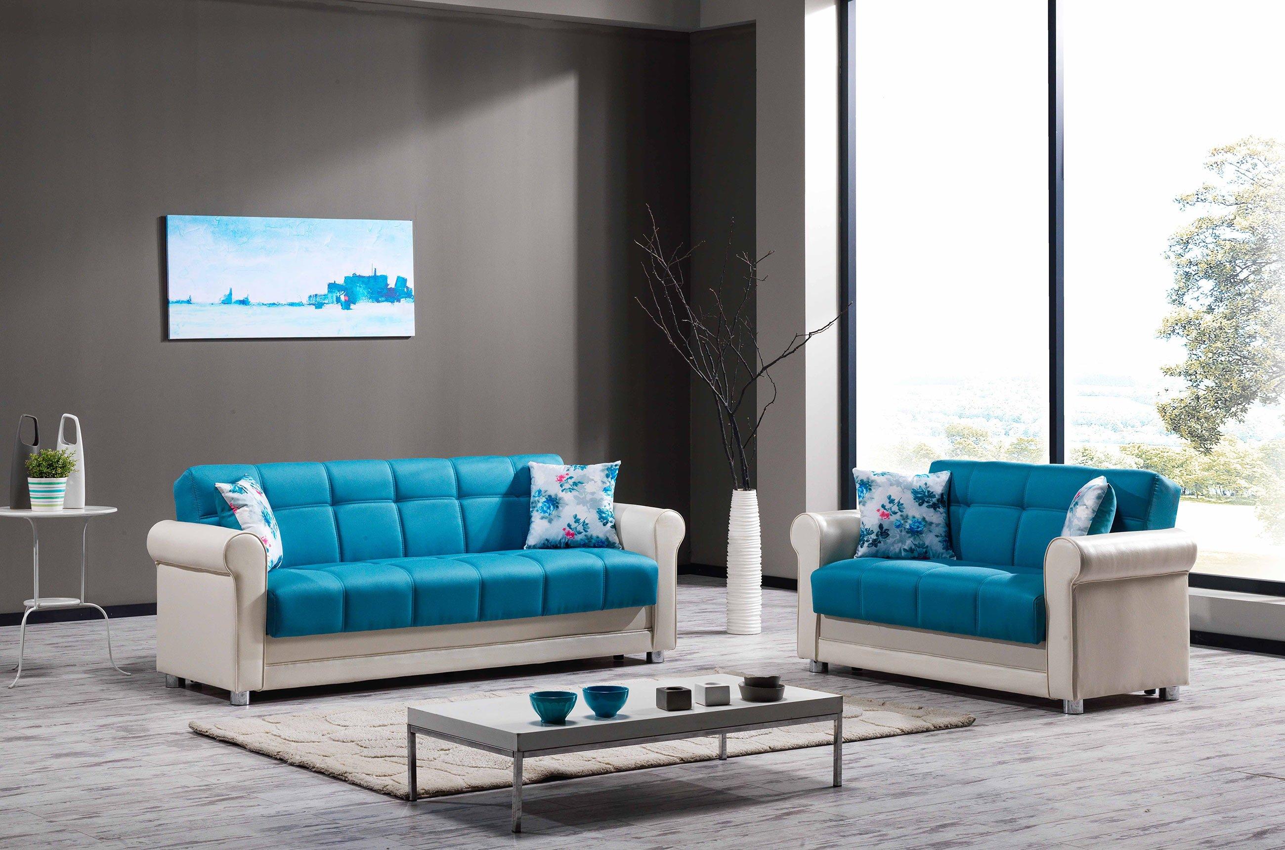Avalon Prusa Blue Sofa by Casamode