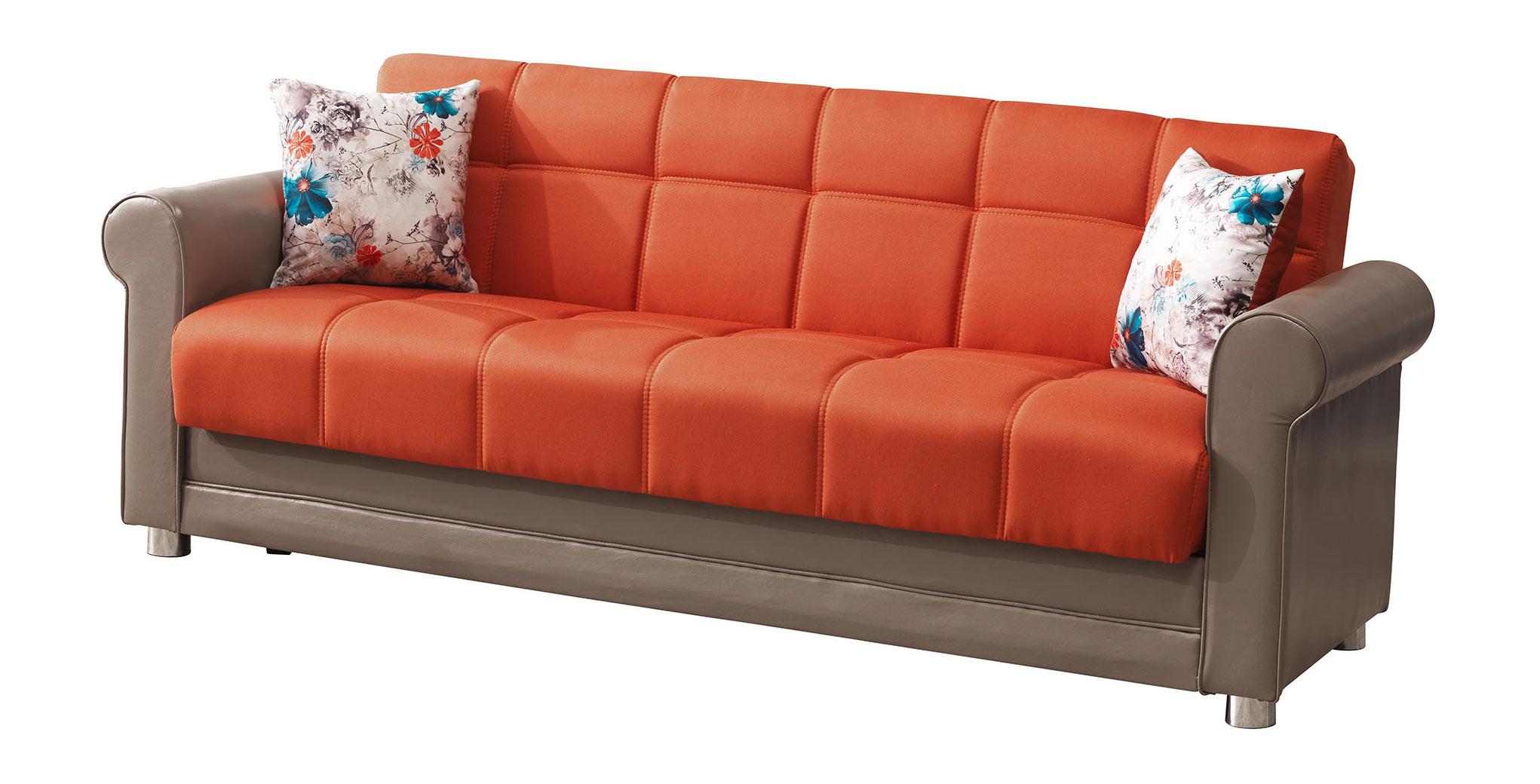 Avalon Prusa Orange Sofa by Casamode : AVALON PRUSA ORANGE SOFA SIT from futonland.com size 2042 x 1040 jpeg 189kB