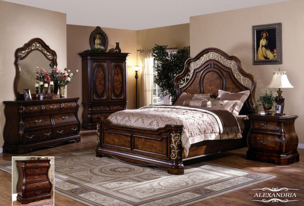 Alexandria Bedroom Set by Meridian Furniture