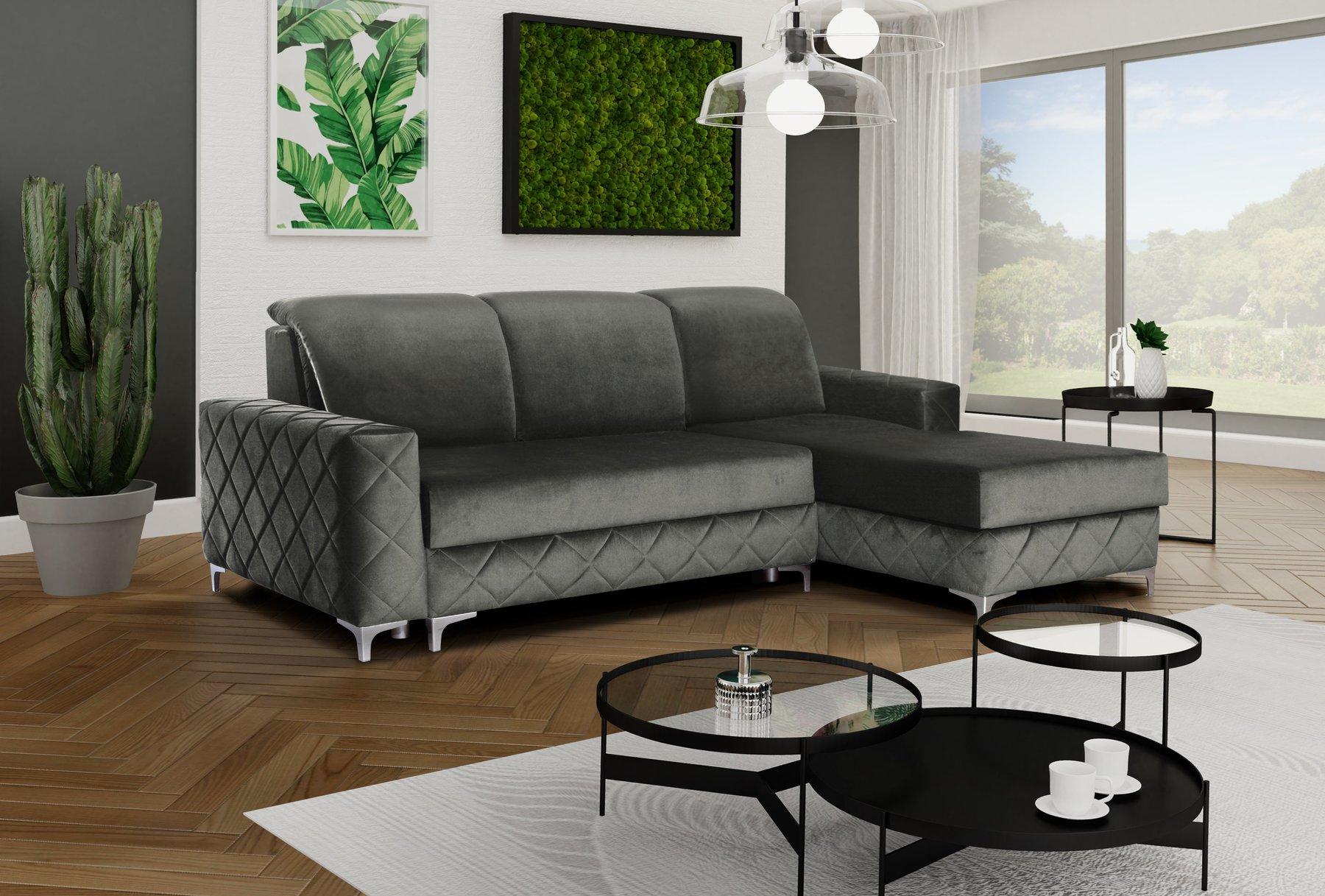 Alfredo Gray Sectional Sofa by Skyler Designs