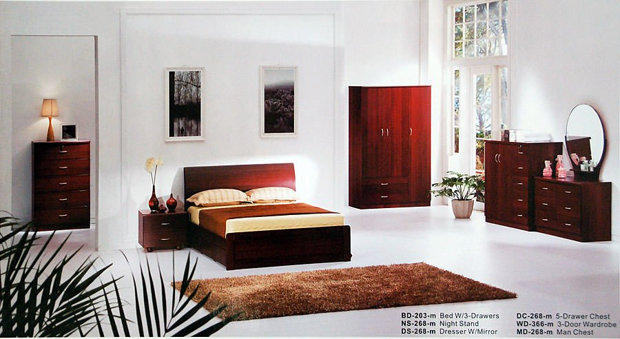 BD-203 Mahogany Bedroom Set by Alina