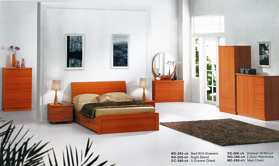 BD-203 Cherry Bedroom Set by Alina