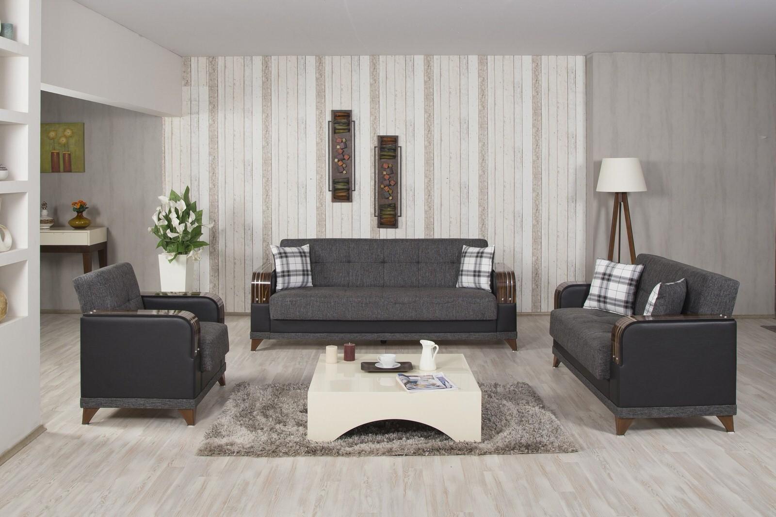 Almira Elena Gray Convertible Sofa Bed By Casamode