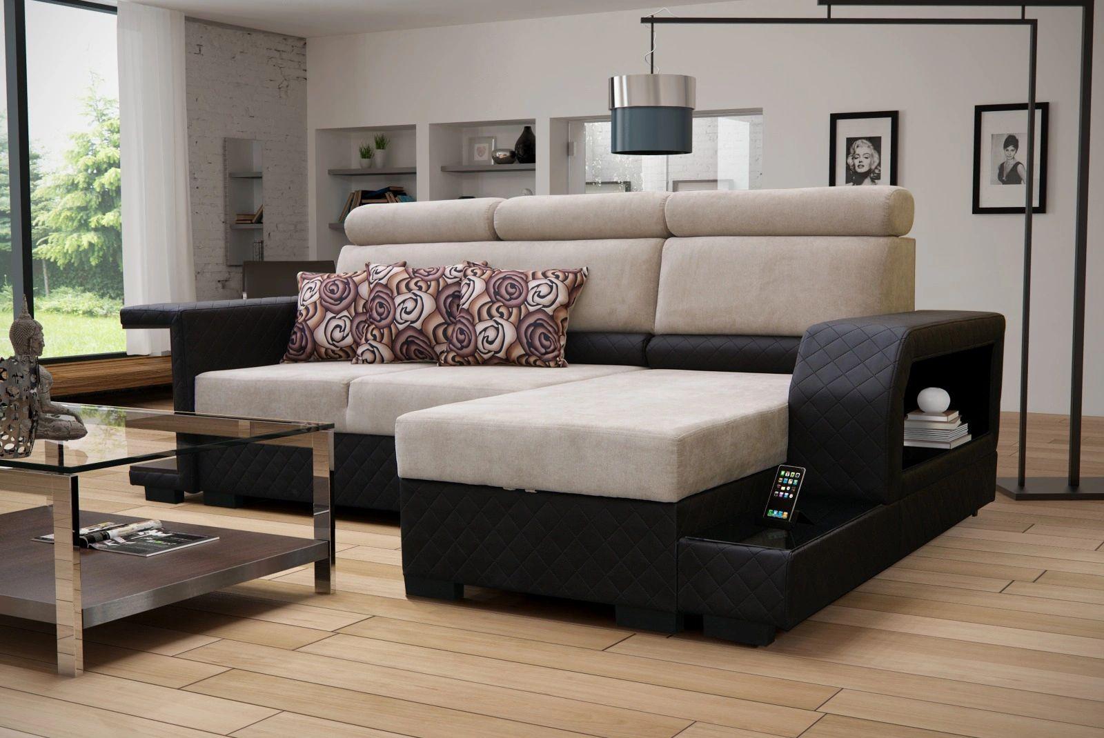 Amaro Beige Sectional Sofa by Skyler Designs