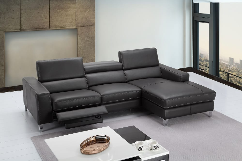 Ariana Premium Italian Leather Sectional by J&M Furniture