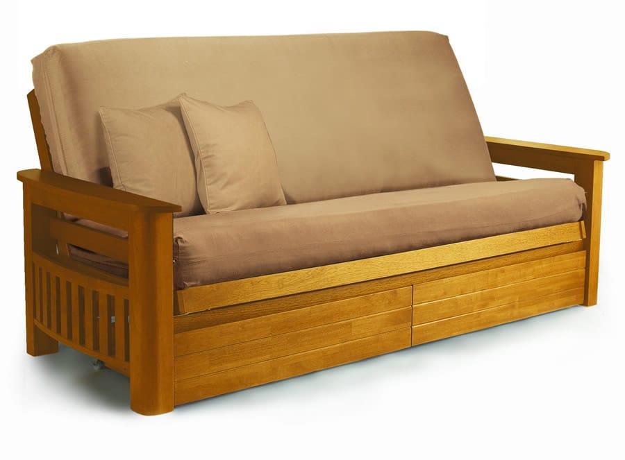 Wooden Couch Frames ~ Arizona medium oak futon frame by lifestyle