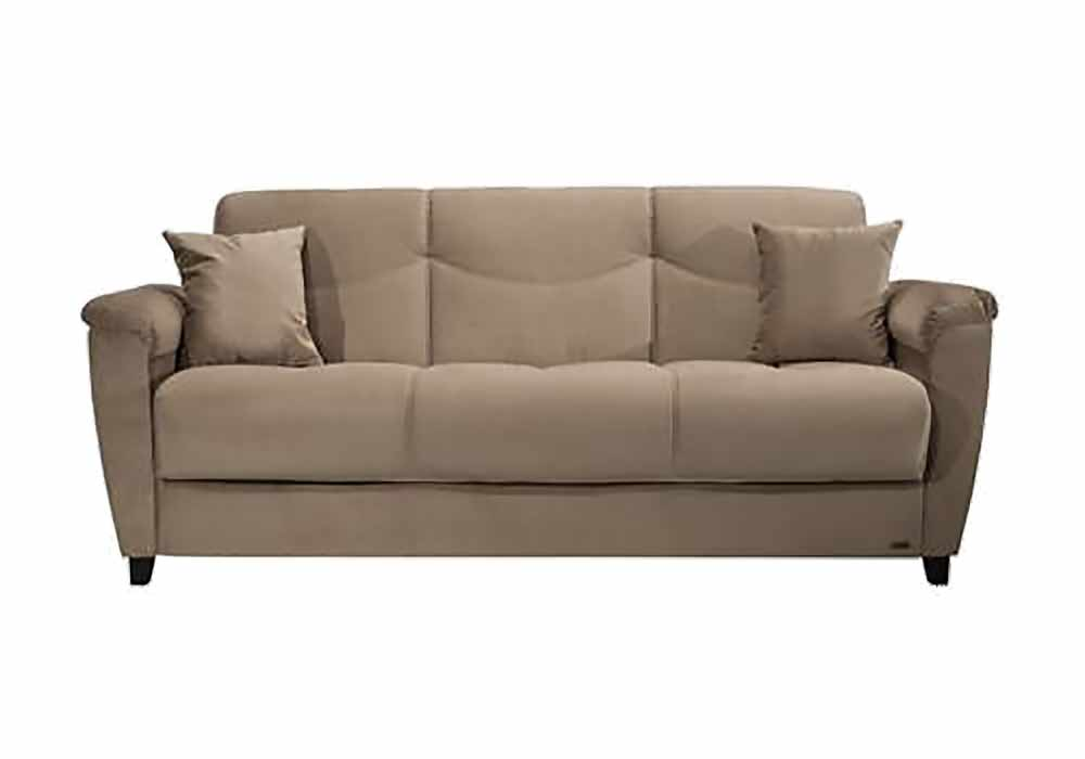 Aspen naomi light brown convertible sofa bed by istikbal for Sofa bed name