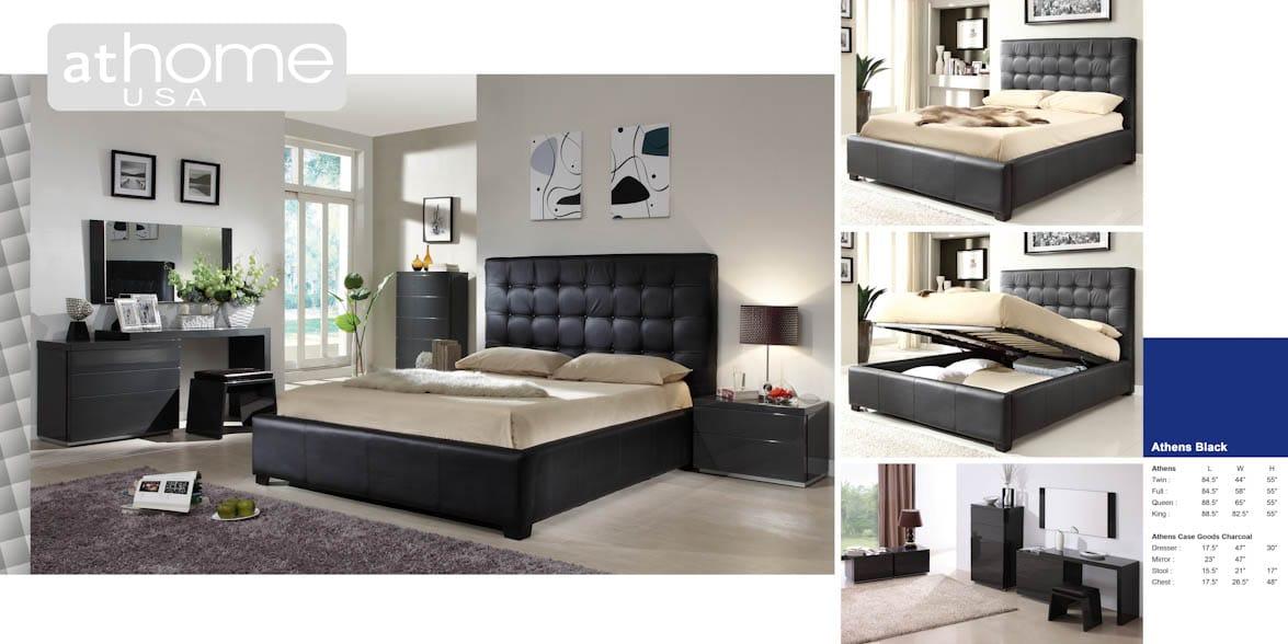 Fresh Leather Bedroom Set Model