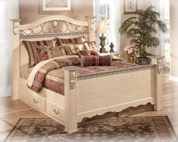 sanibel b290 queen bedroom set signature design by ashley furniture