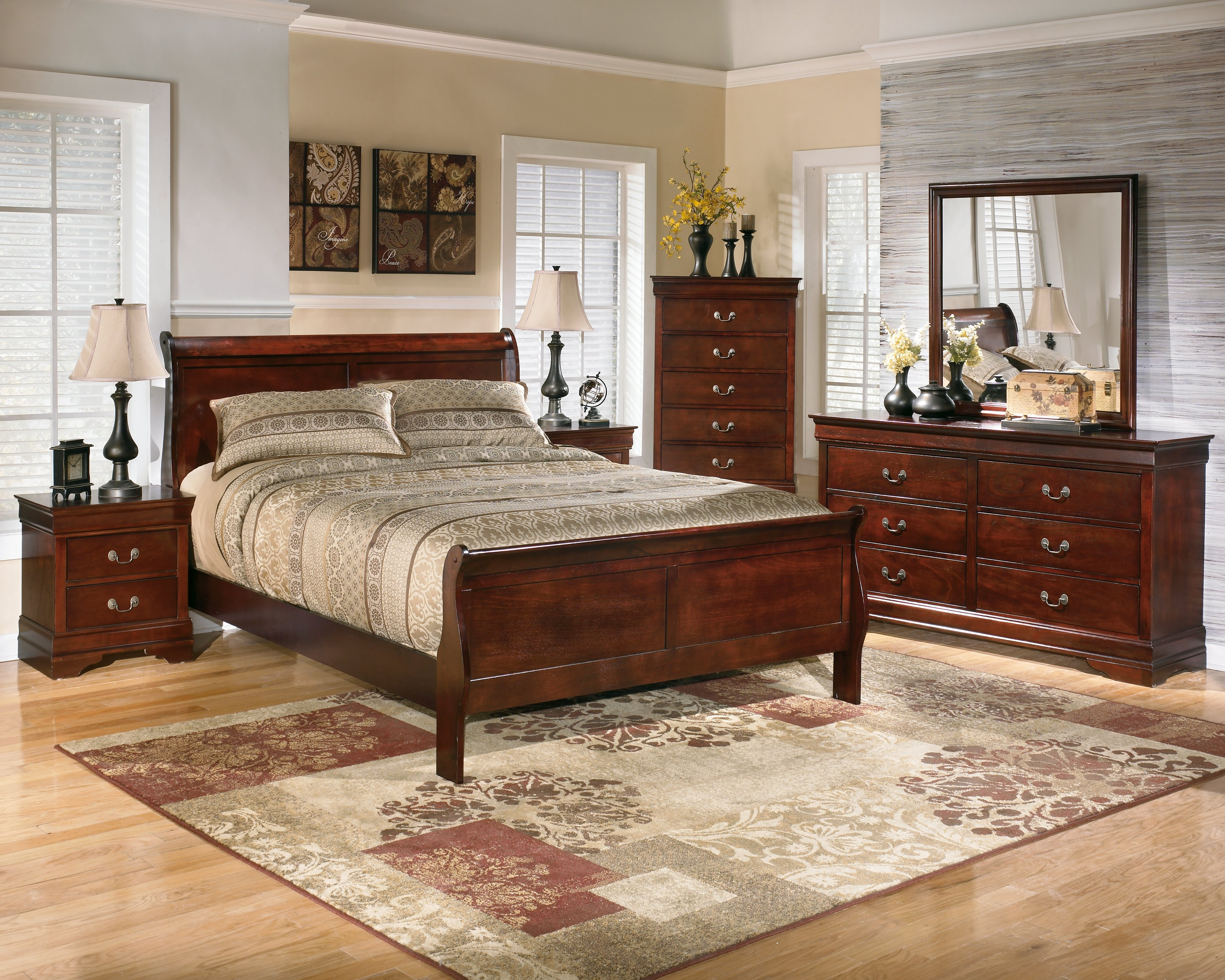 B376 Alisdair Dark Brown Bedroom Set Signature Design By Ashley Furniture