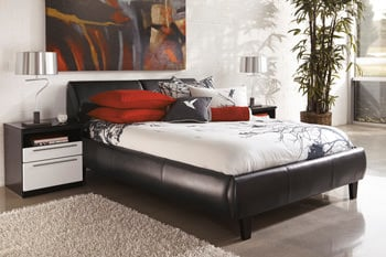 b850 piroska black white bedroom set signature design by