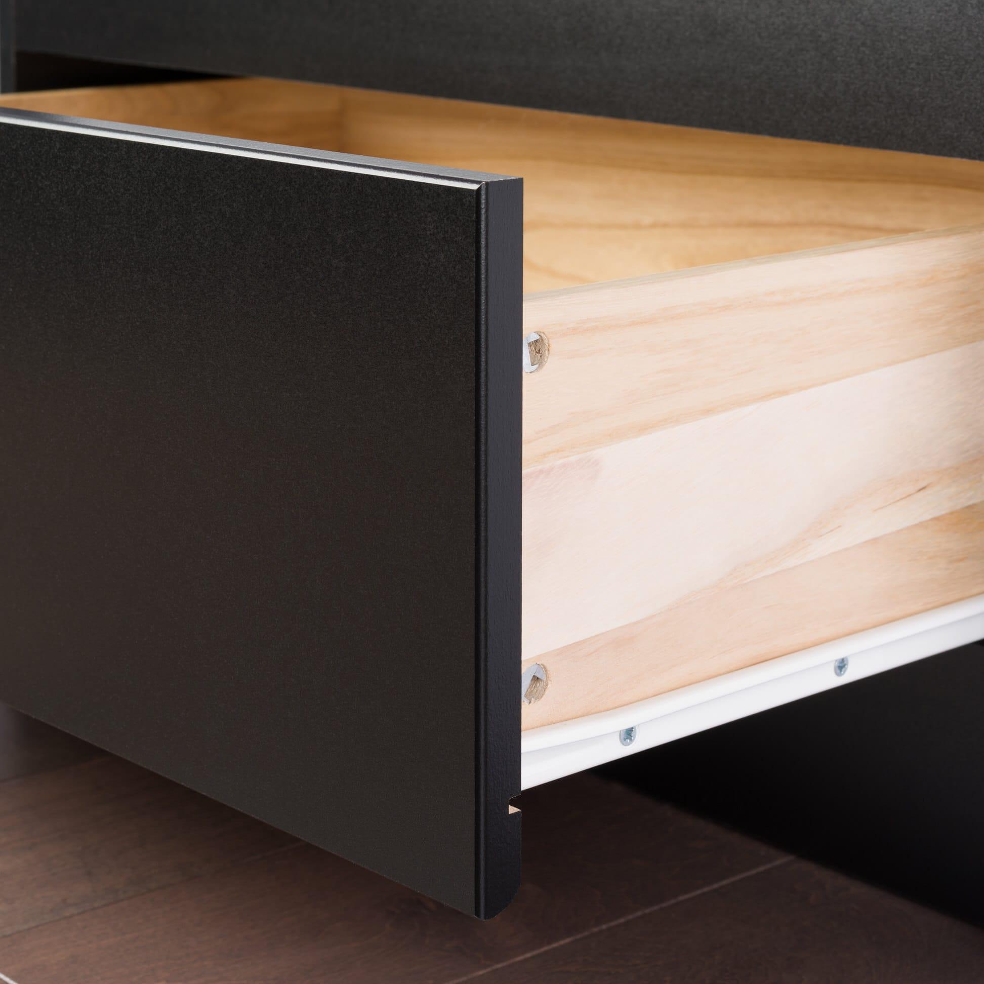 king platform storage bed