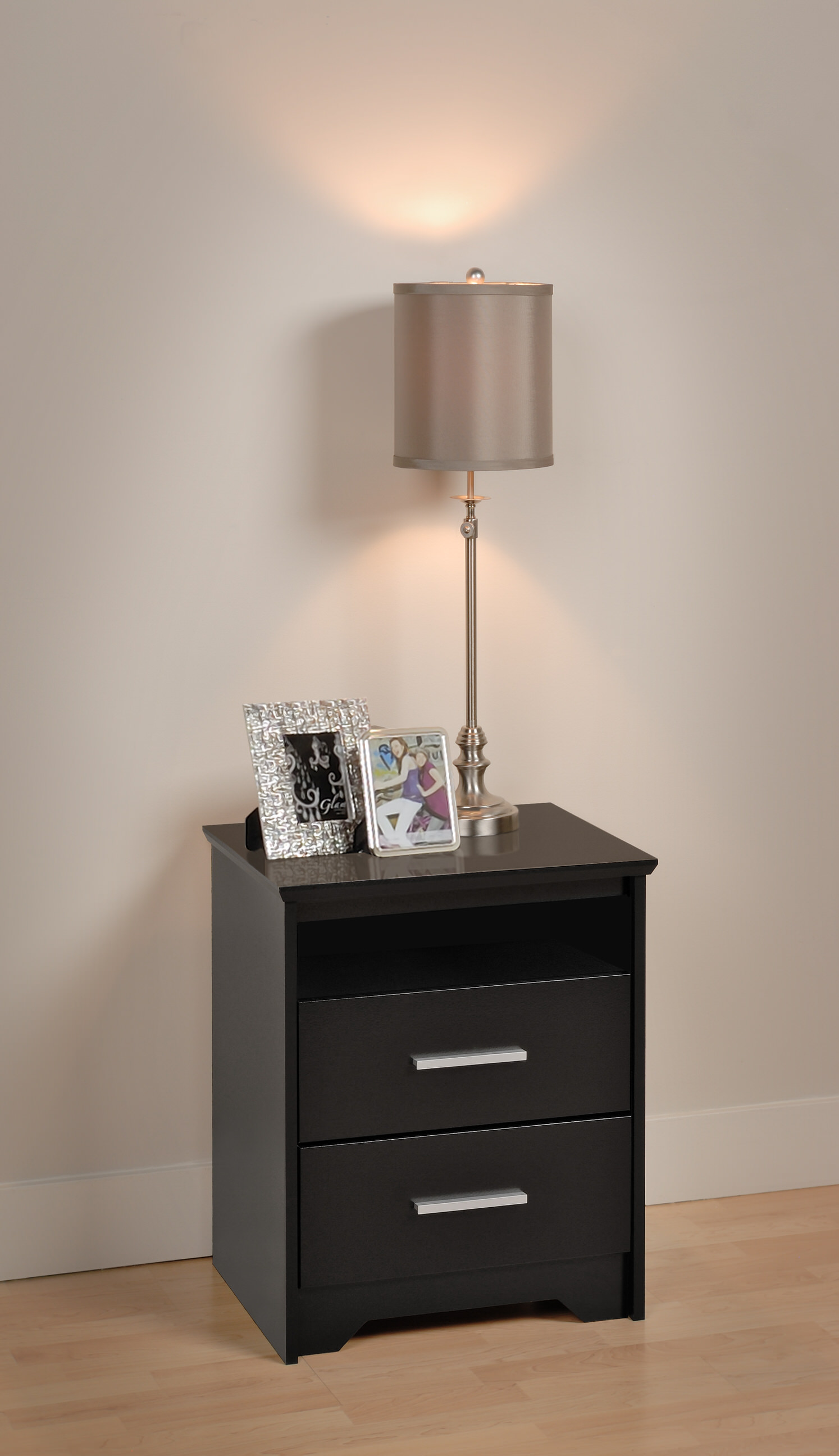 coal harbor 2 drawer tall nightstand by prepac. Black Bedroom Furniture Sets. Home Design Ideas