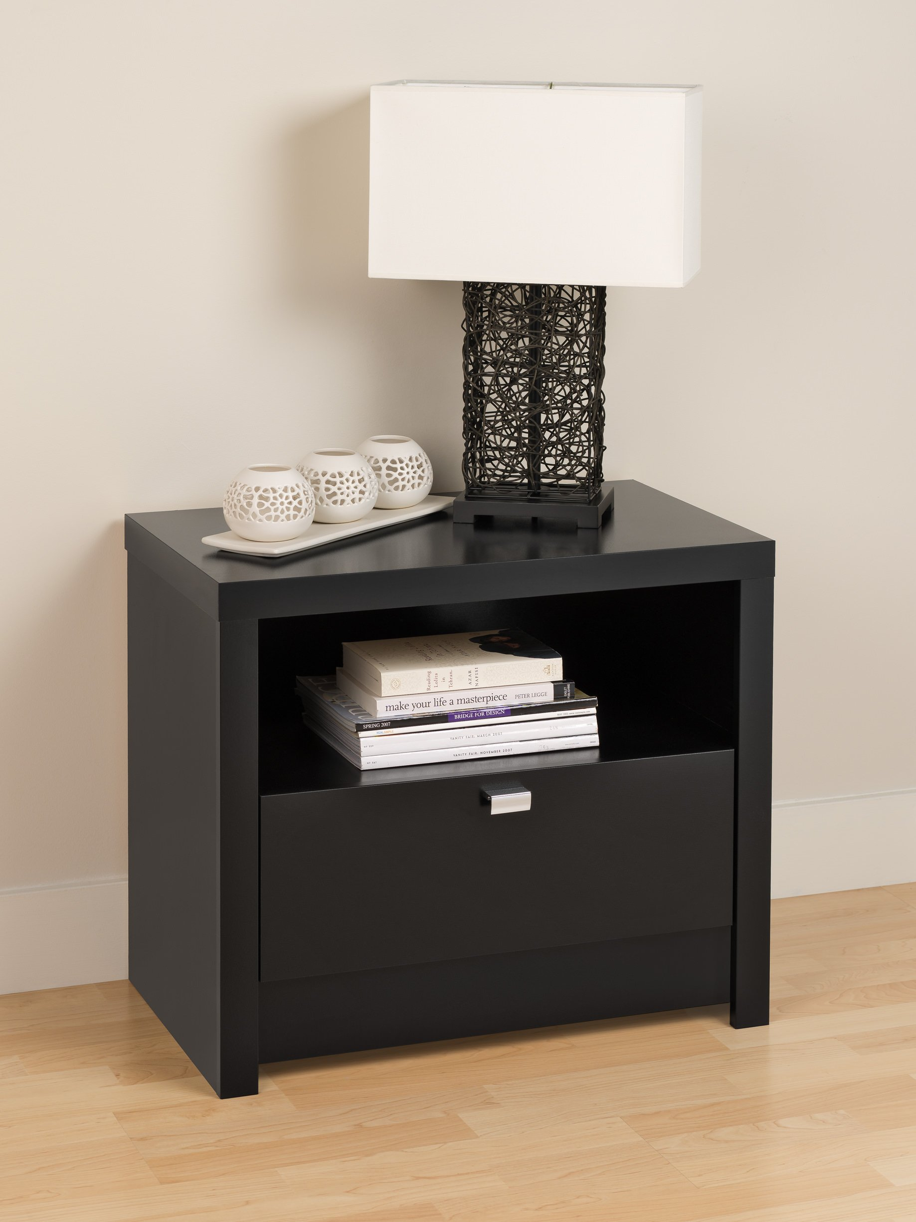 series 9 designer 1 drawer nightstand by prepac