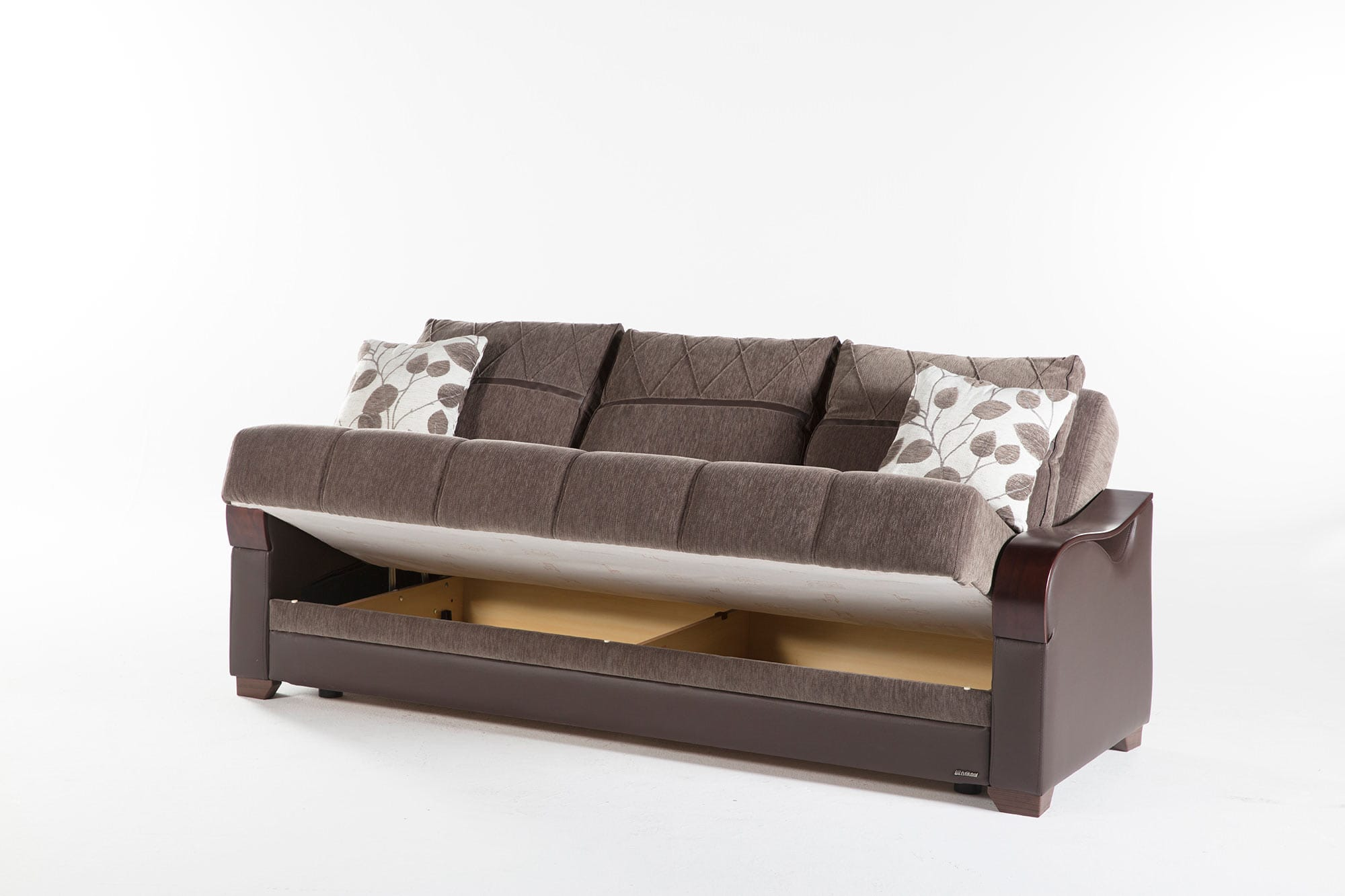 Bennett Armoni Brown Convertible Sofa Bed by Istikbal Furniture