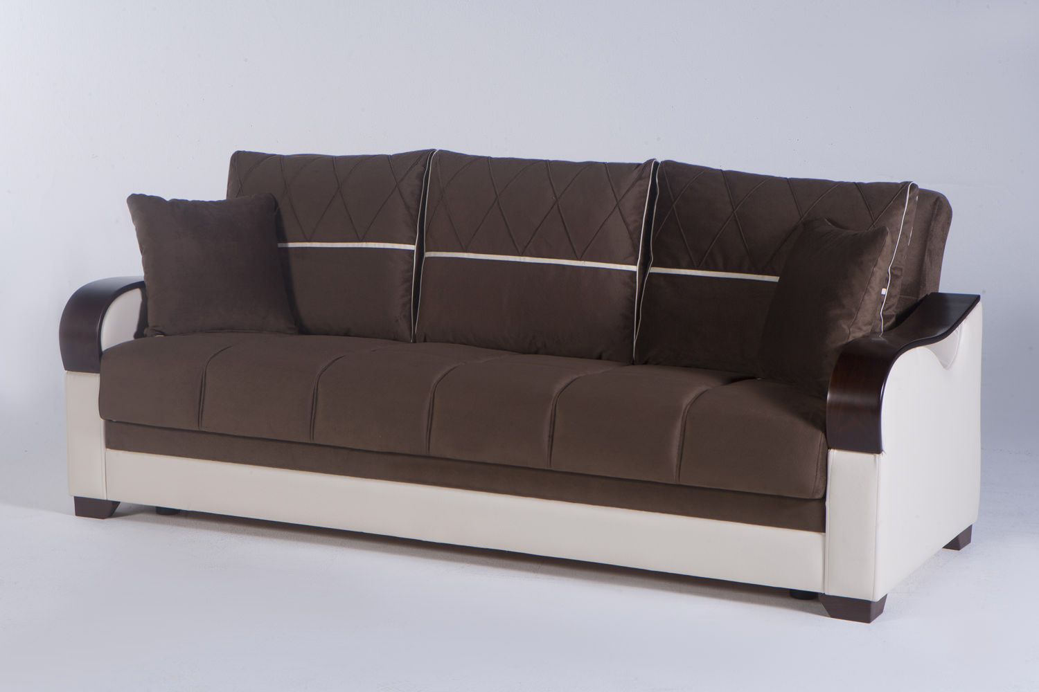 Bennett Best Brown Convertible Sofa Bed by Istikbal Furniture