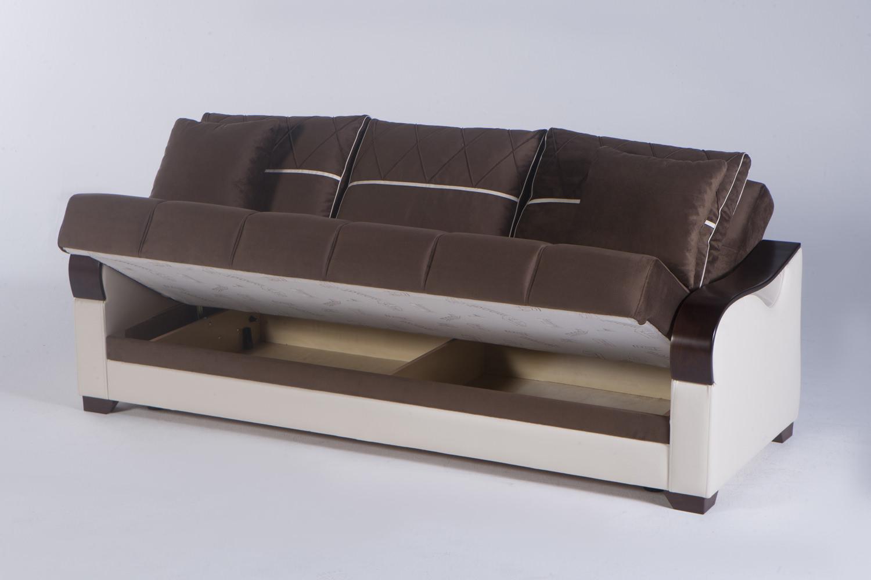 Bennett best brown convertible sofa bed by sunset