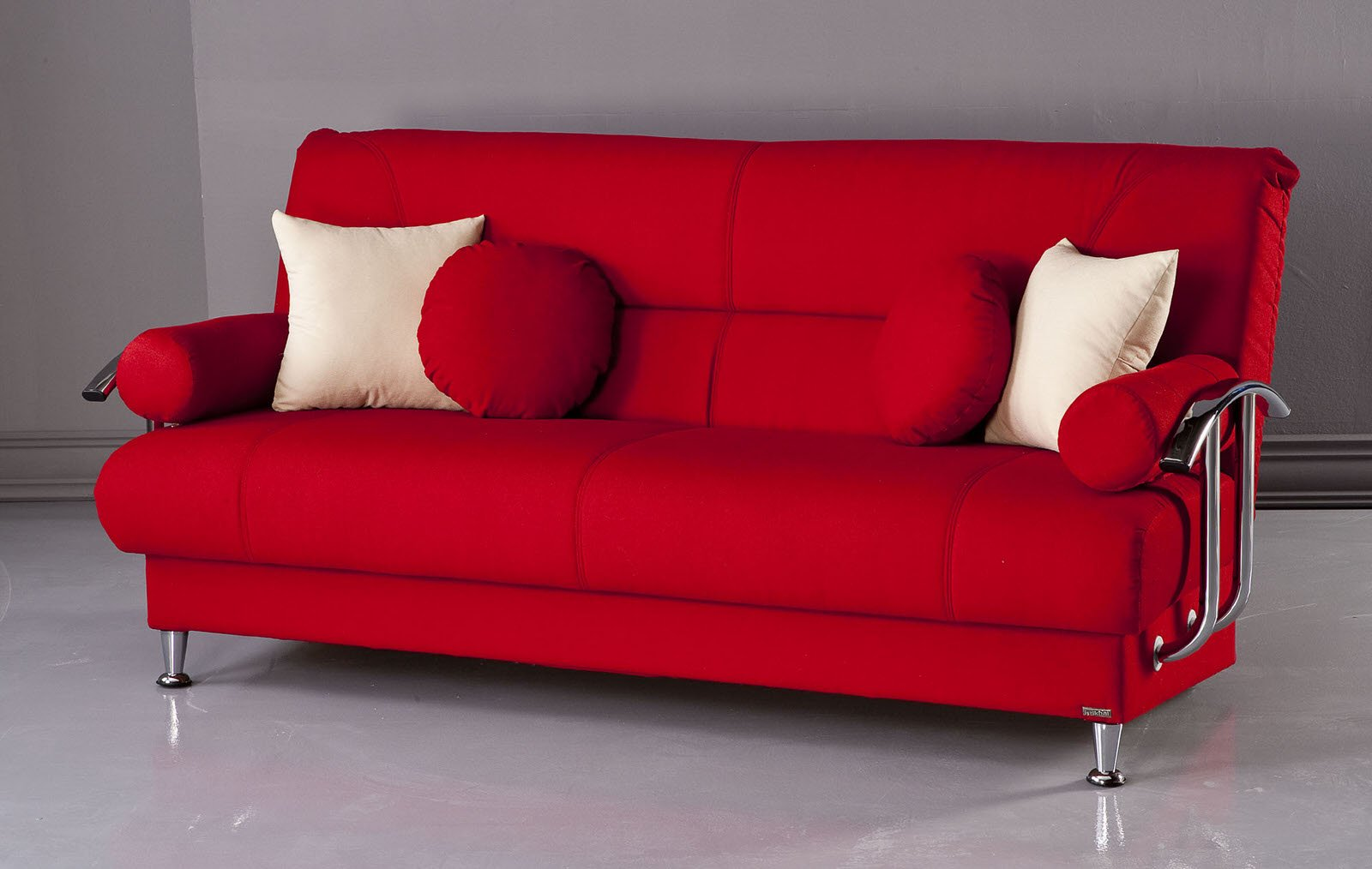 Hollywood Jazz Crimson Red Futon Sofa Bed Bed Mattress Sale