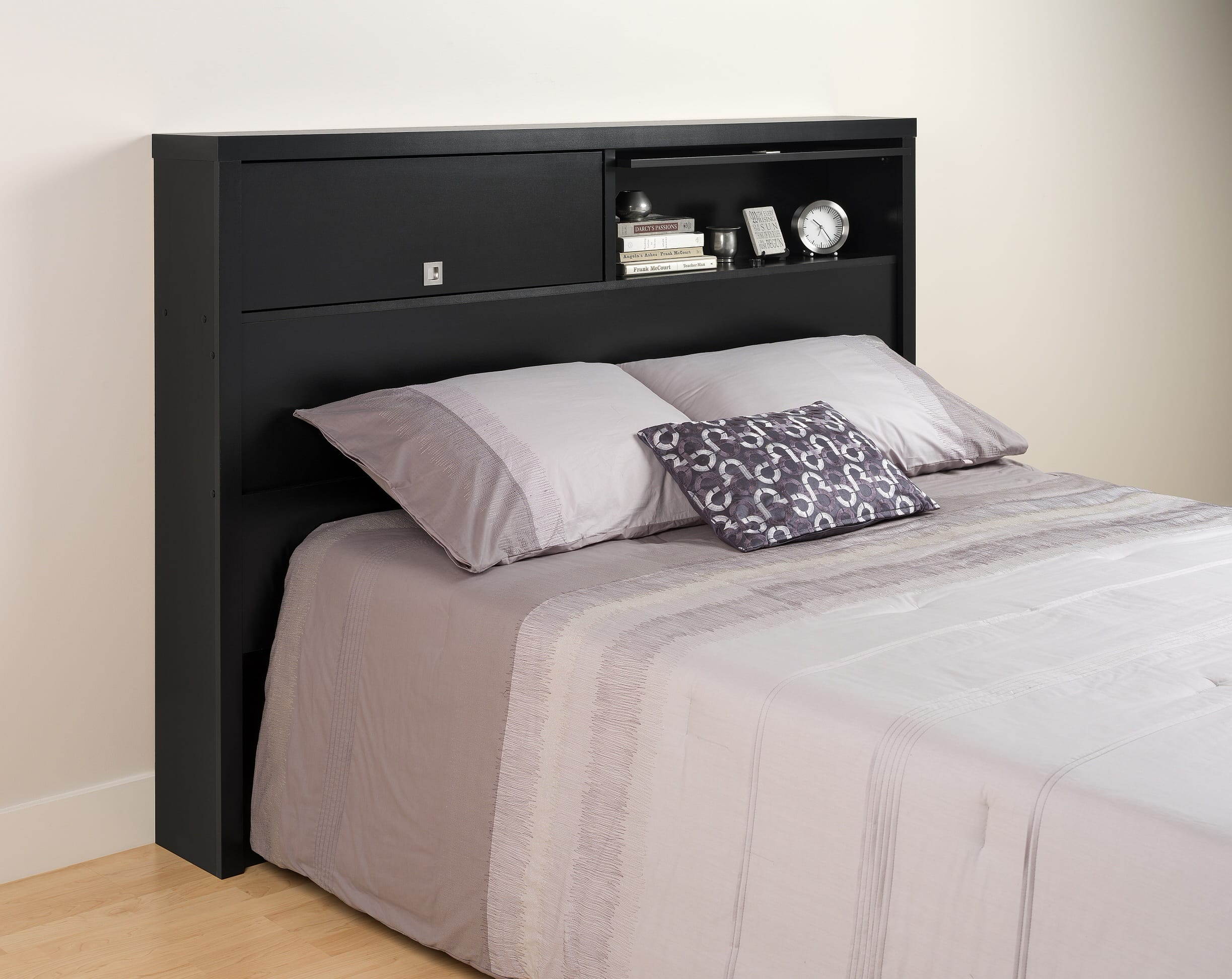 Series Designer Door Full Queen Storage Headboard By Prepac