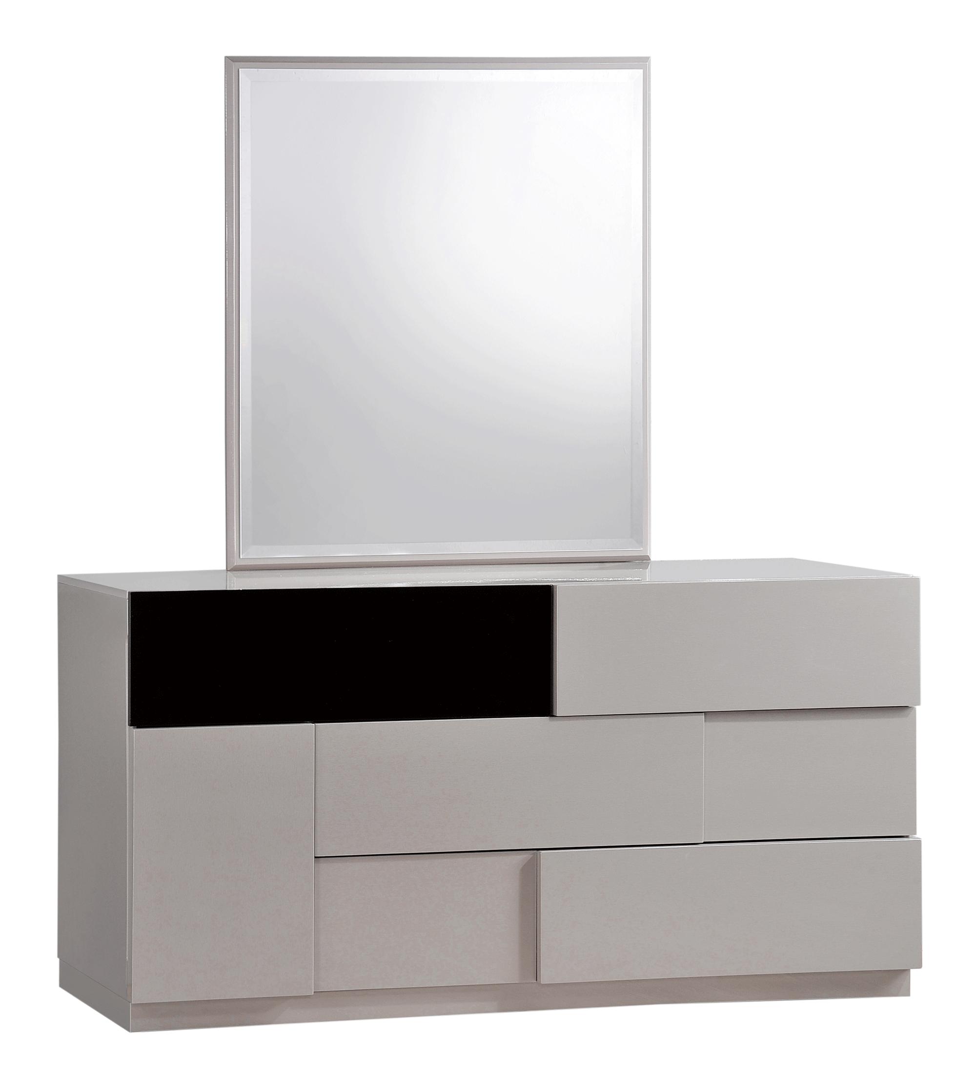 . Bianca Grey Glossy   Black Glossy Dresser by Global Furniture