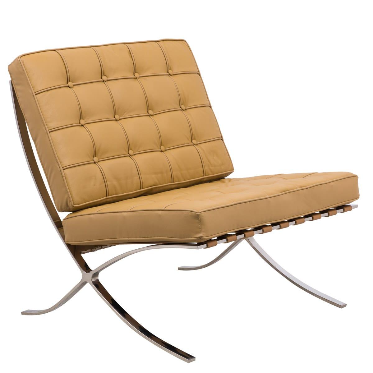 Surprising Bellefonte Style Modern Pavilion Light Brown Leather Chair By Leisuremod Machost Co Dining Chair Design Ideas Machostcouk