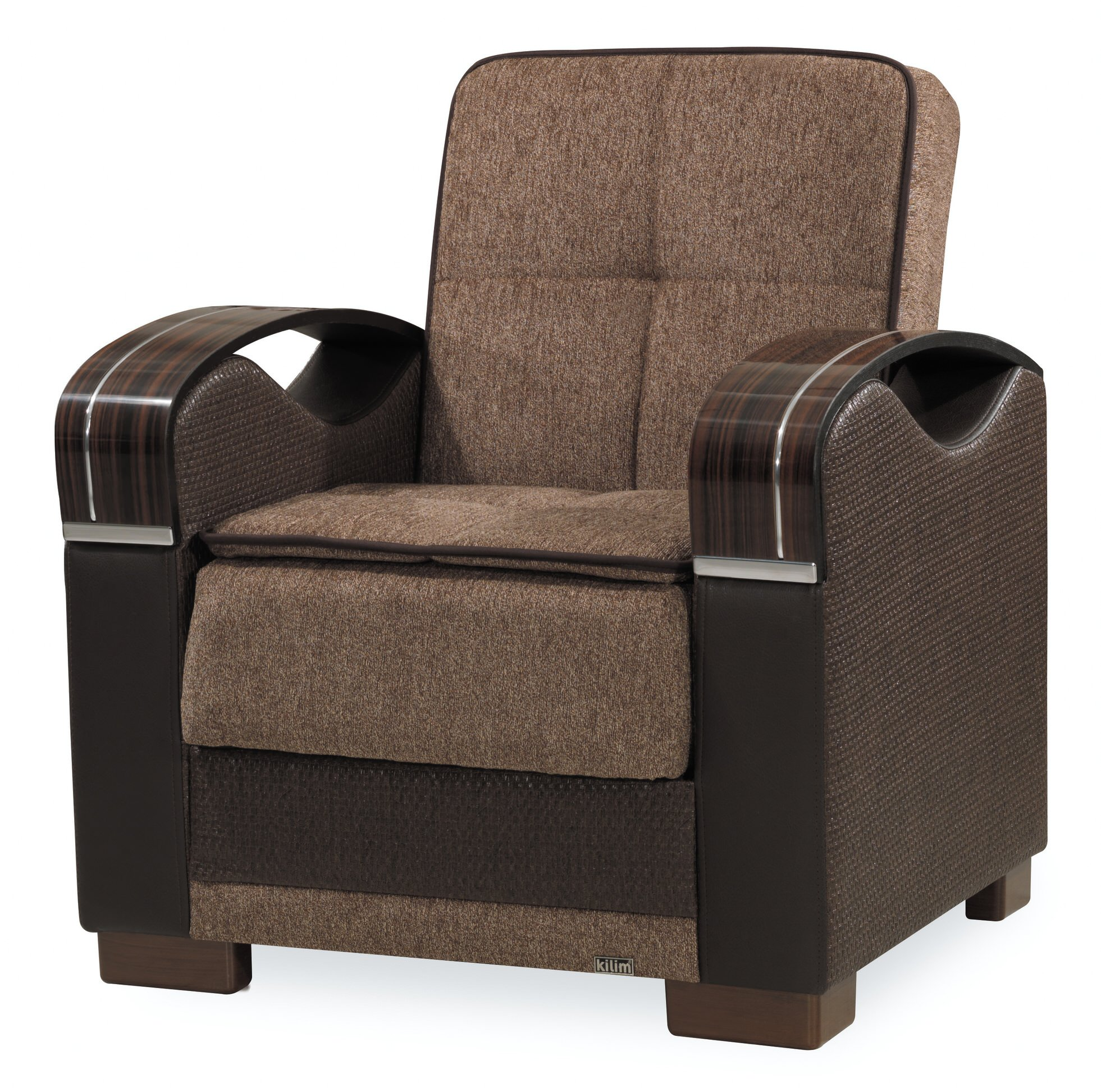 Admirable Bristol Brown Convertible Chair By Casamode Short Links Chair Design For Home Short Linksinfo