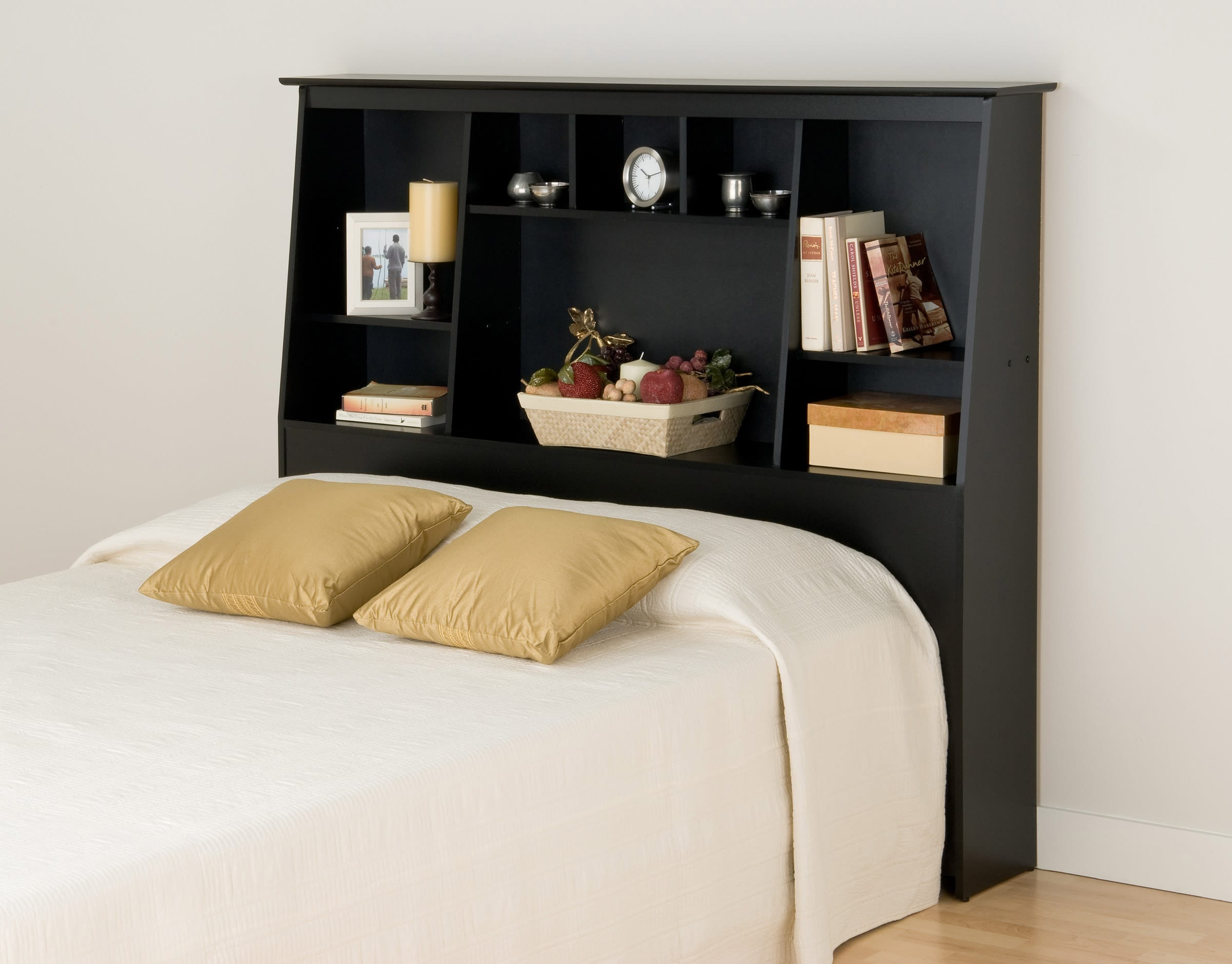 Full Queen Tall Slant Back Bookcase Headboard By Prepac