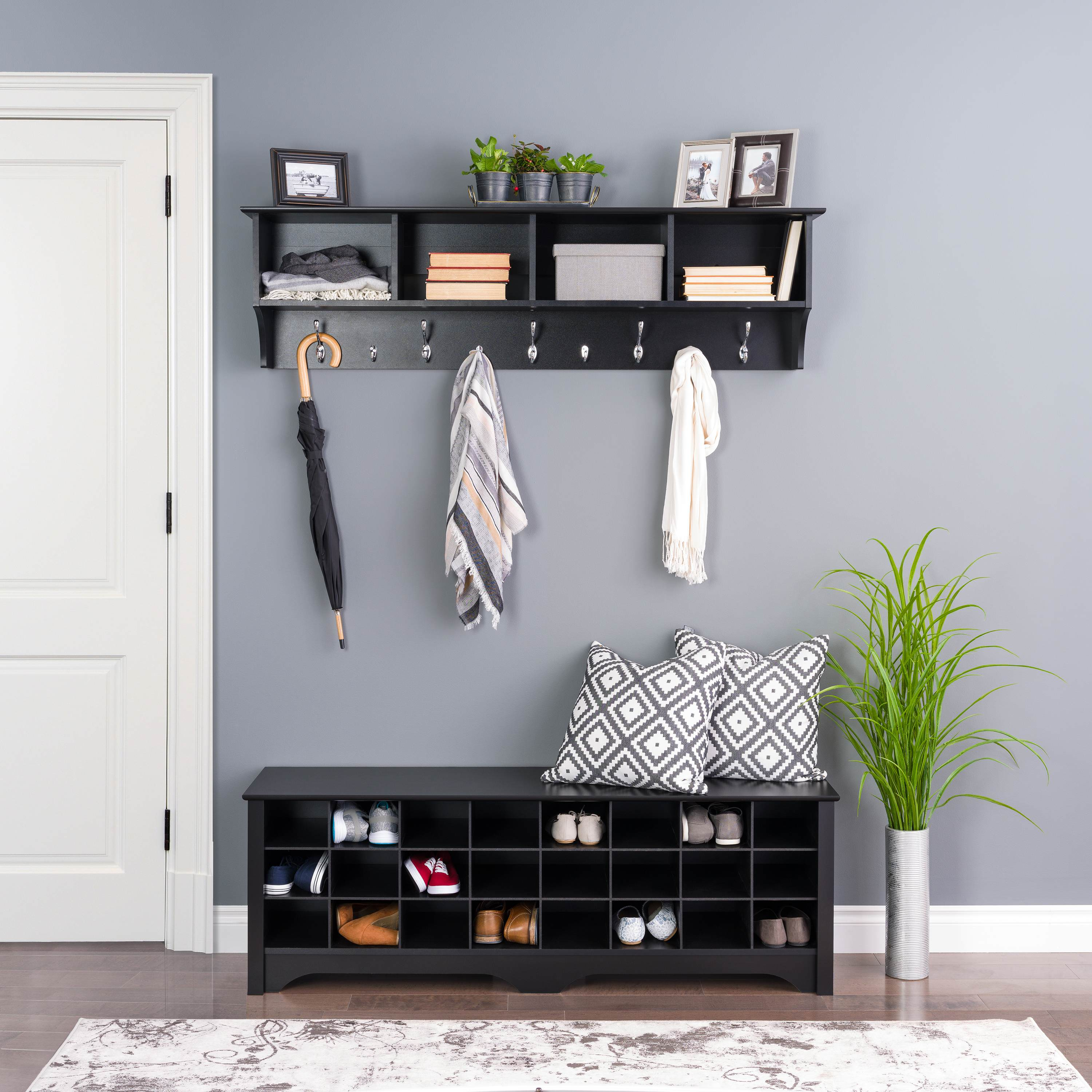 Outstanding 24 Pair Shoe Storage Cubby Bench By Prepac Evergreenethics Interior Chair Design Evergreenethicsorg