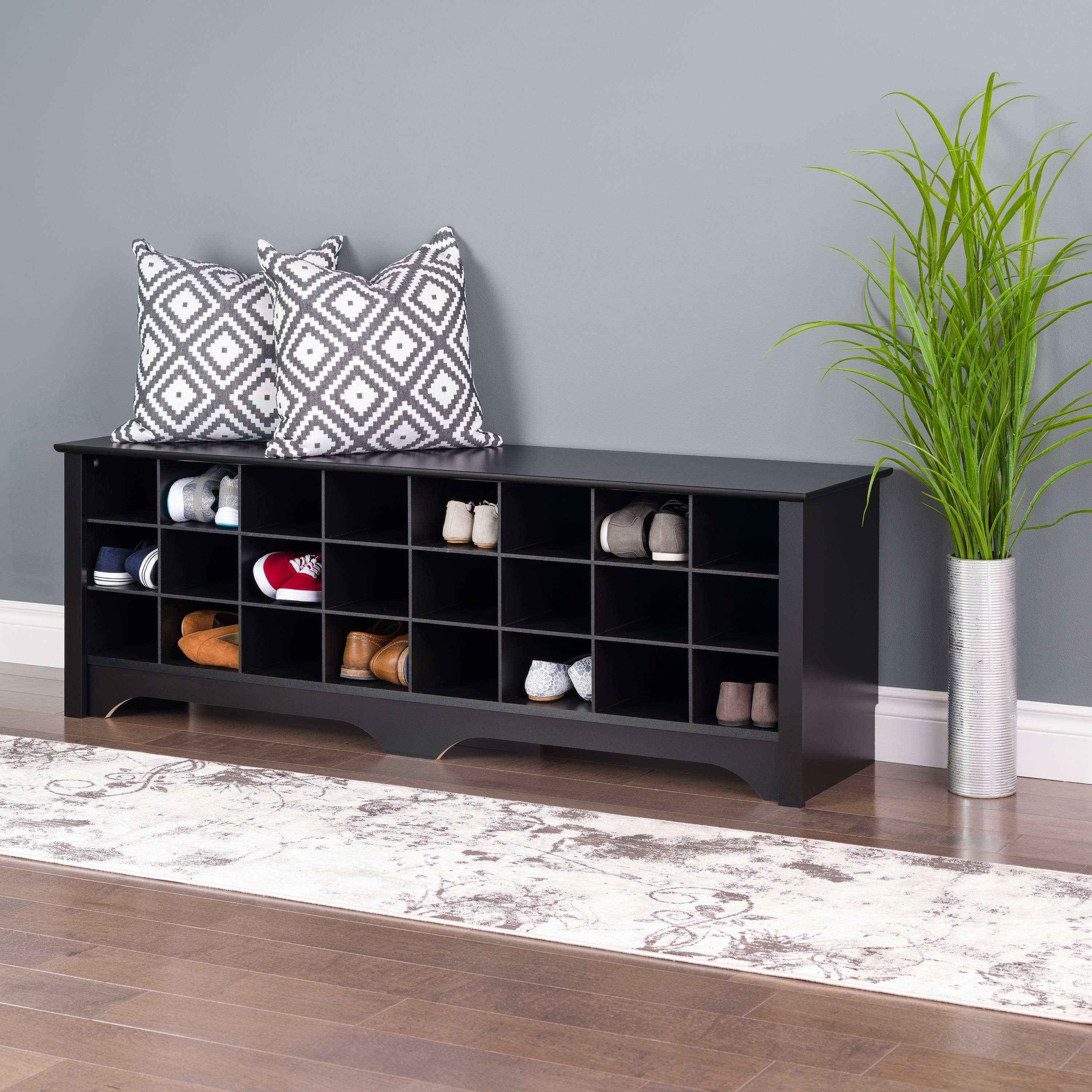 Magnificent 24 Pair Shoe Storage Cubby Bench By Prepac Evergreenethics Interior Chair Design Evergreenethicsorg