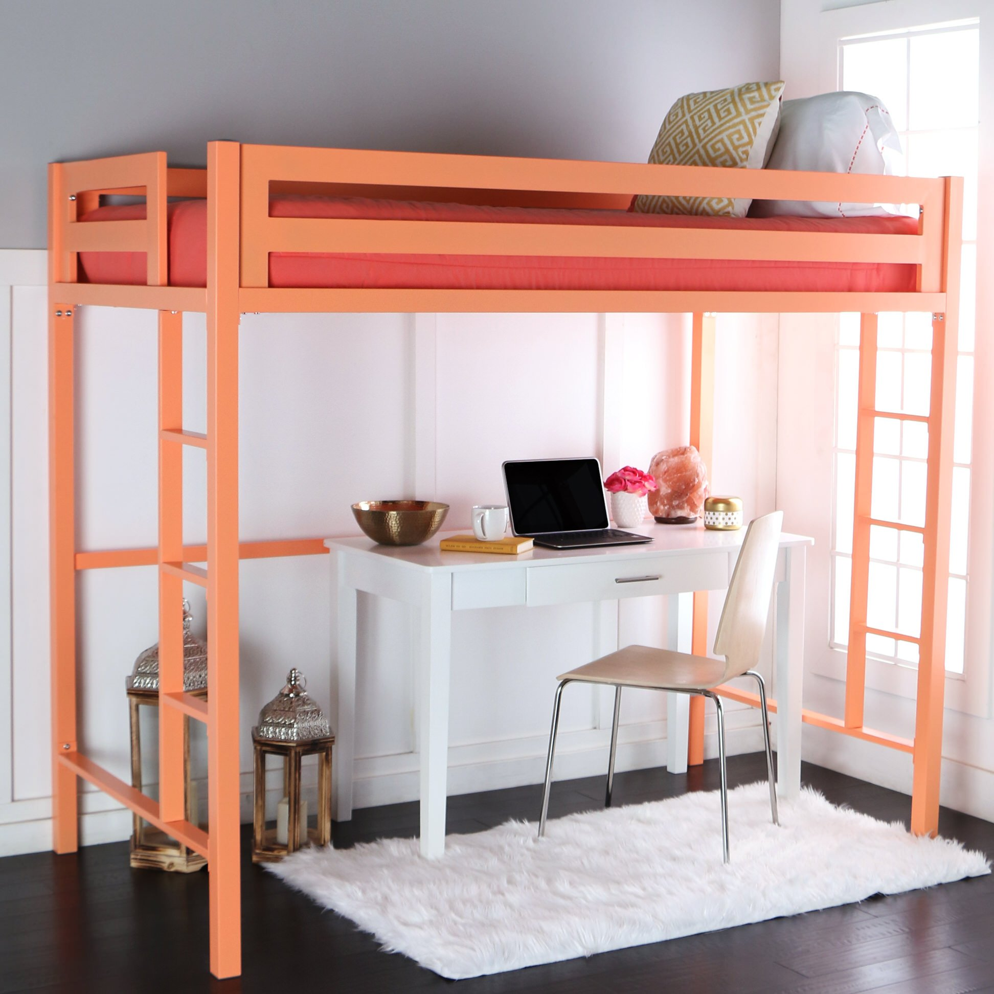 Bentley Twin Loft Bed Coral By Walker Edison
